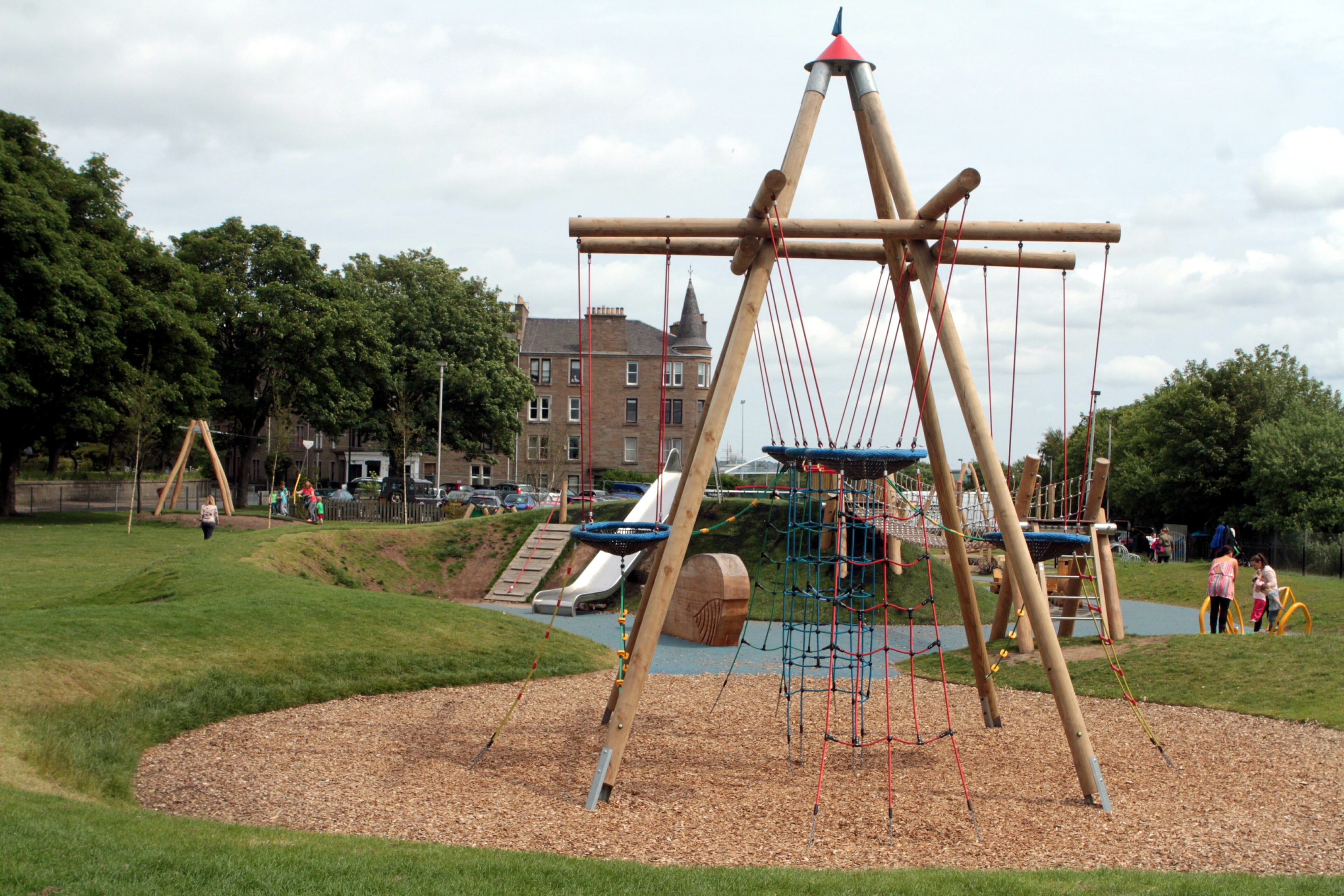 The playpark on Roseangle