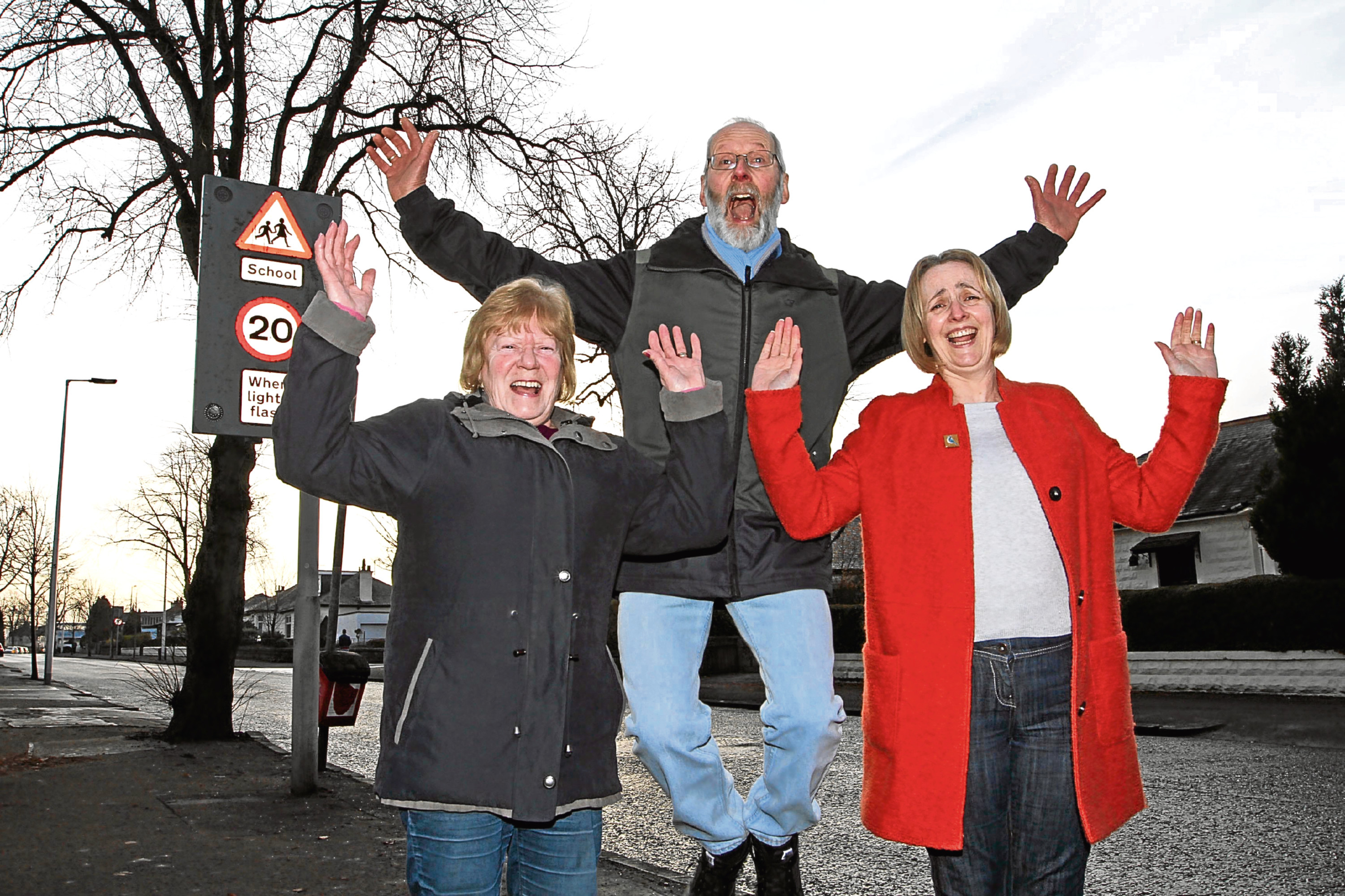 Ann Kelly, Derek Paton and Lesley Connelly have welcomed the news that the council is set to trial a 20mph limit at Johnston Avenue.