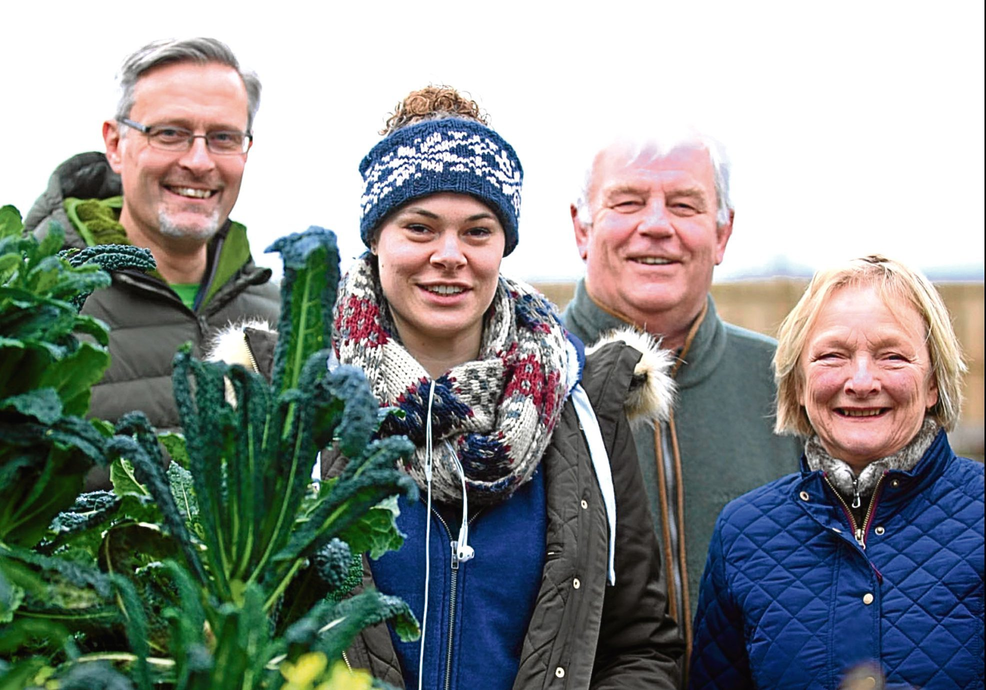 Alec Lyell and his wife Annie have set up a charity called Dundee Therapy Garden, for veterans in Dudhope Park Gardens.  Picture shows; Horticultural therapists Michael Snowden and Zisky Stovell with Alec (chairman) and Annie Lyell (trustee)