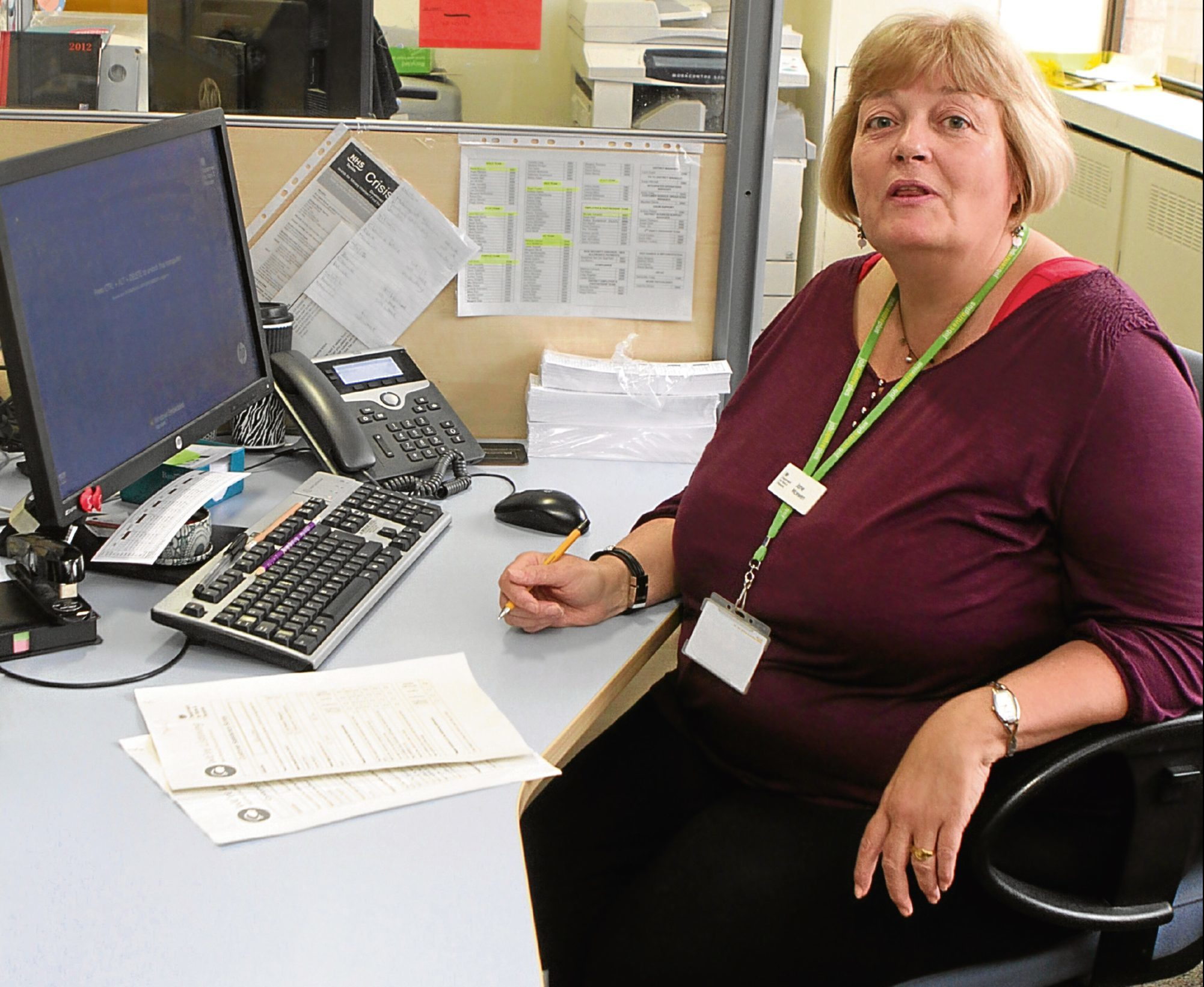 Jane McEwen, work service manager at Dundee's Jobcentre Plus.