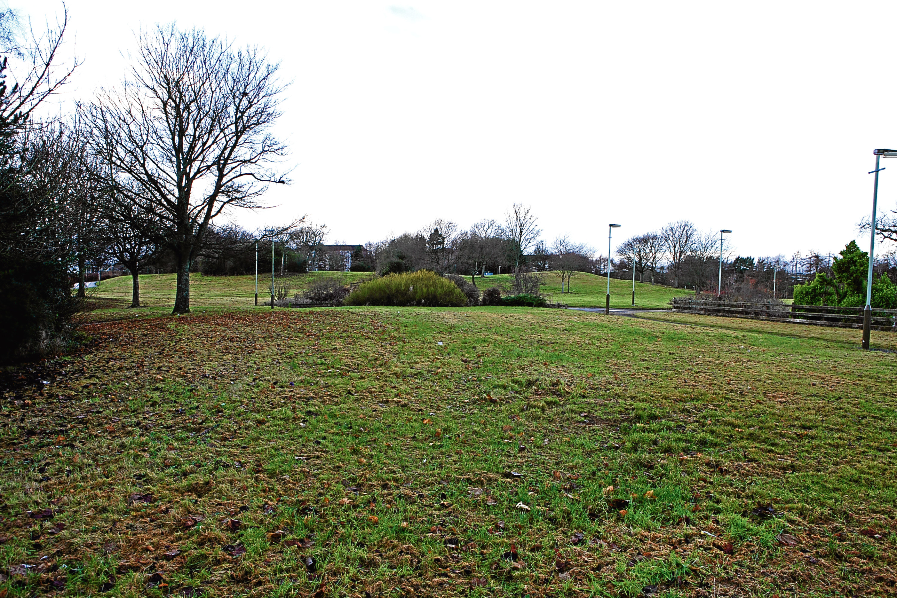 The site of the development, which will be made up of 26 three-bedroom homes.
