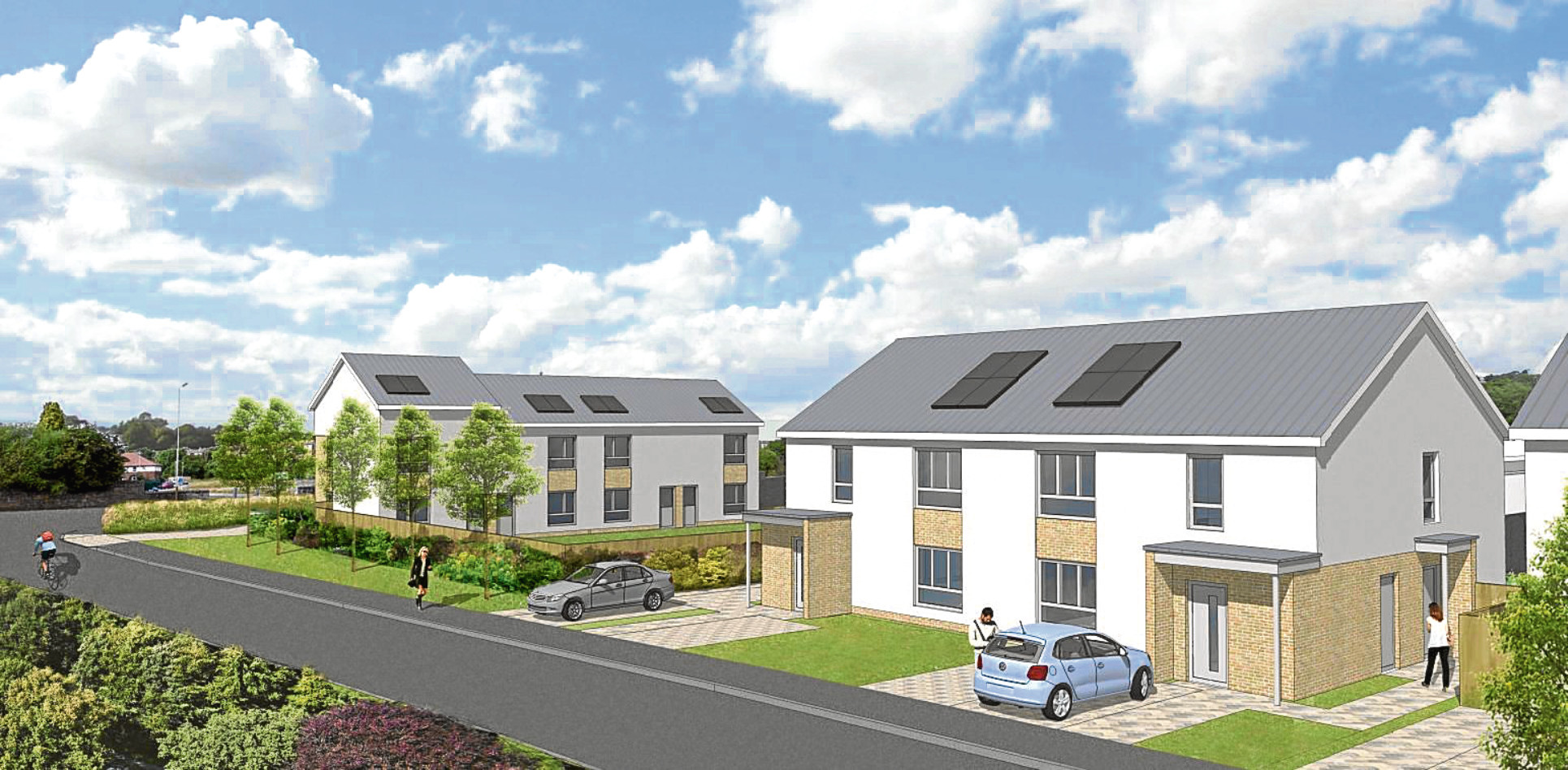 A 3D image of how the new homes could look.