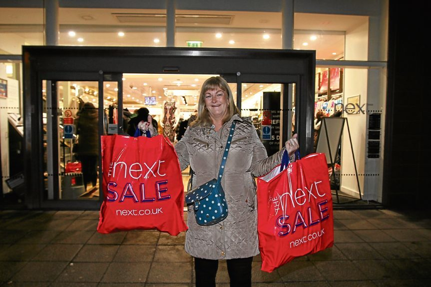 Liz Nicholas was delighted with her purchases.