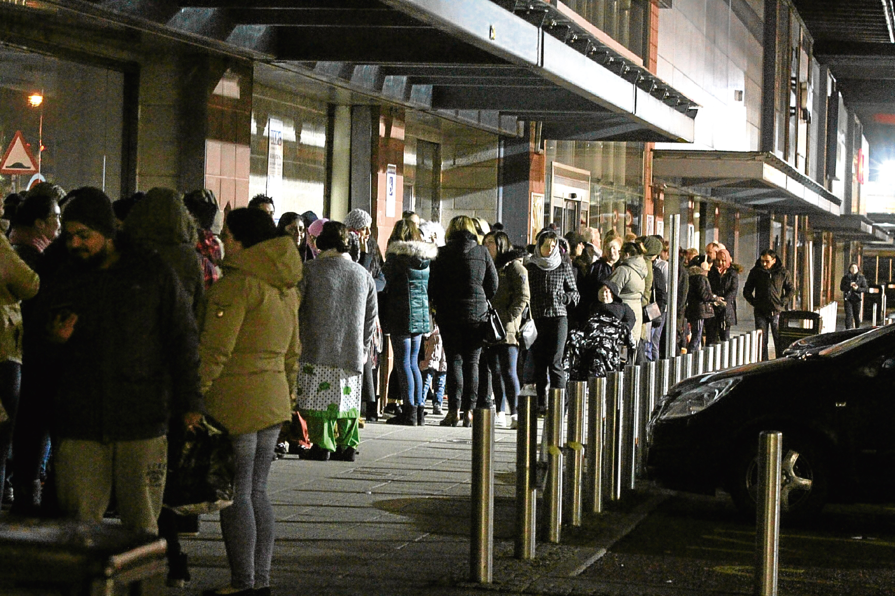 Bargain hunters formed a long queue outside the Next store at the Gallagher Retail Park early on Boxing Day.