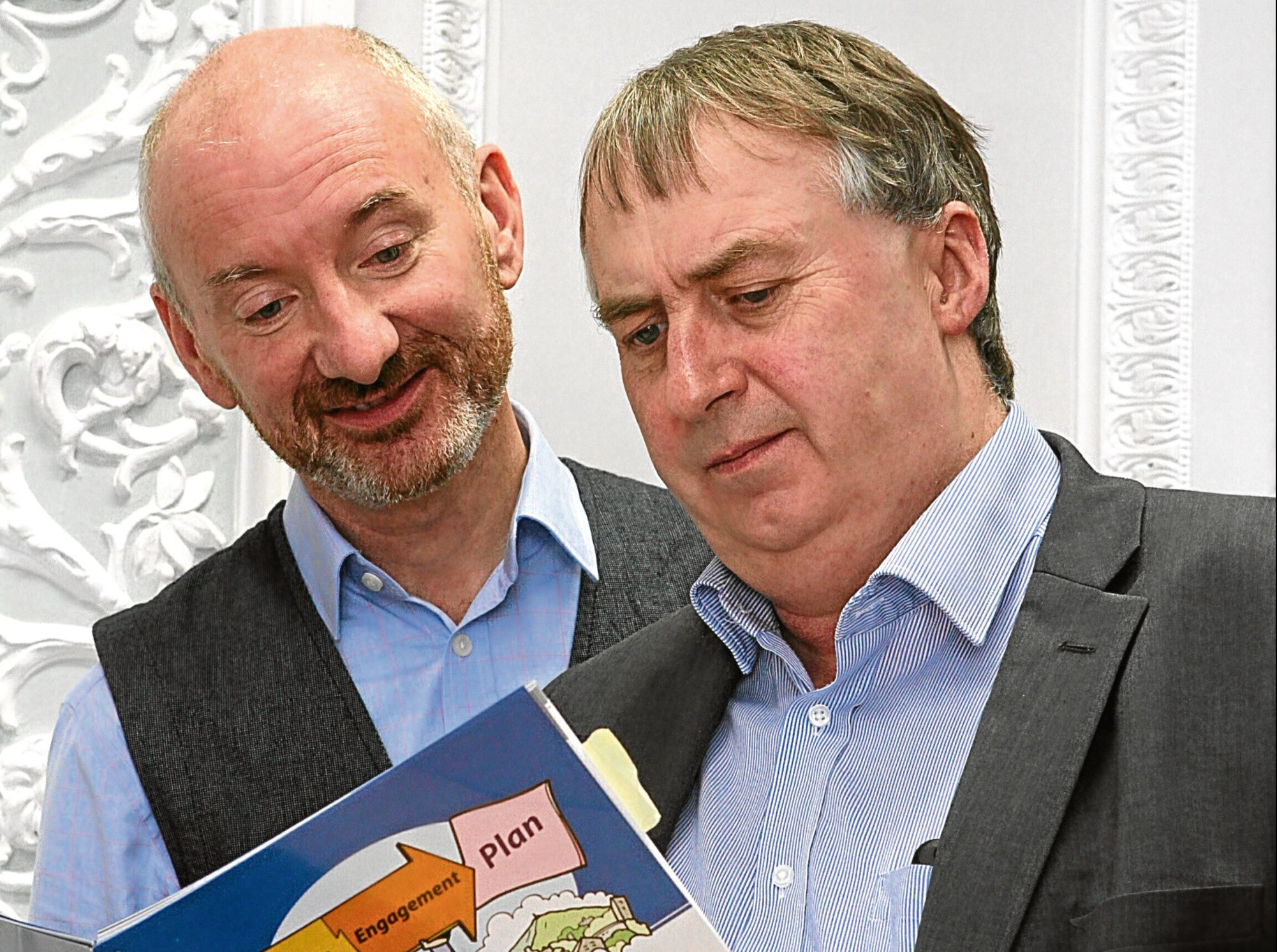David Lynch (chief officer) and Ken Lynn (chairman) of the Dundee Health Social Care Partnership.