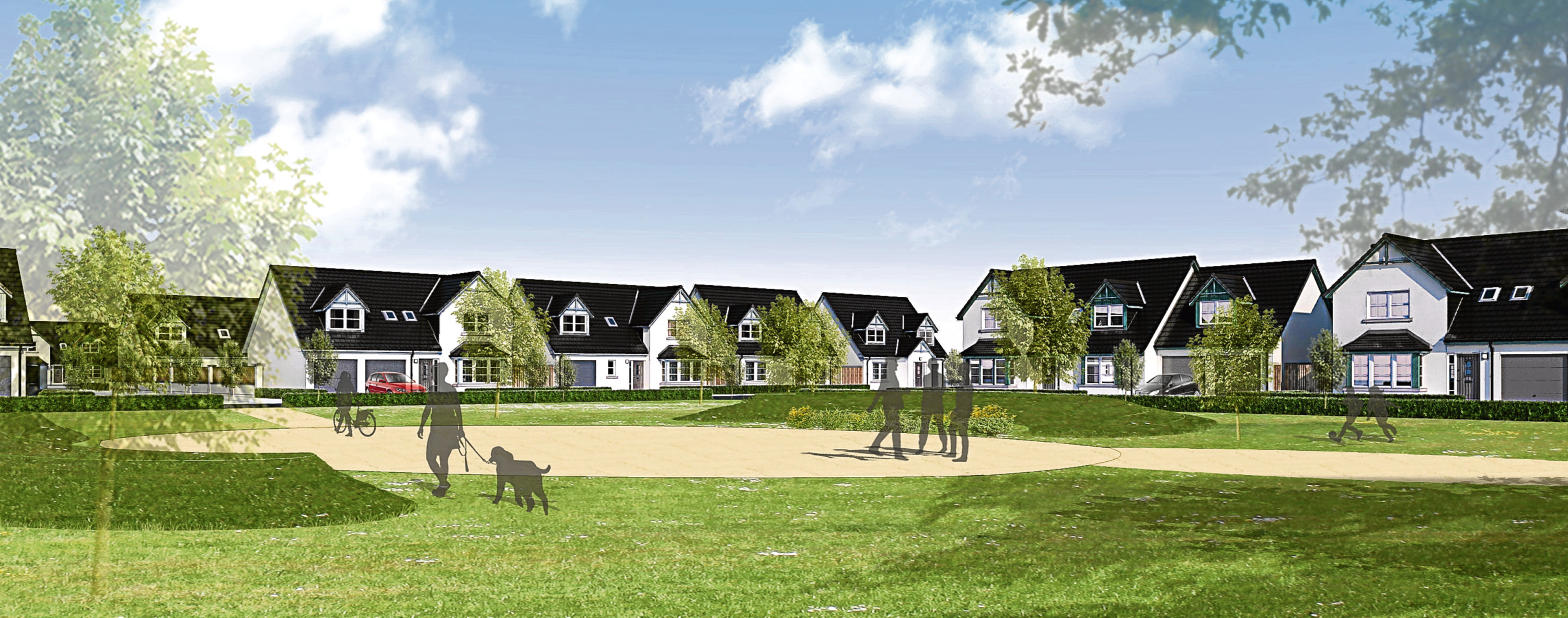 An artists impression of Balgillo Heights, a development by Kirkwood Homes.
