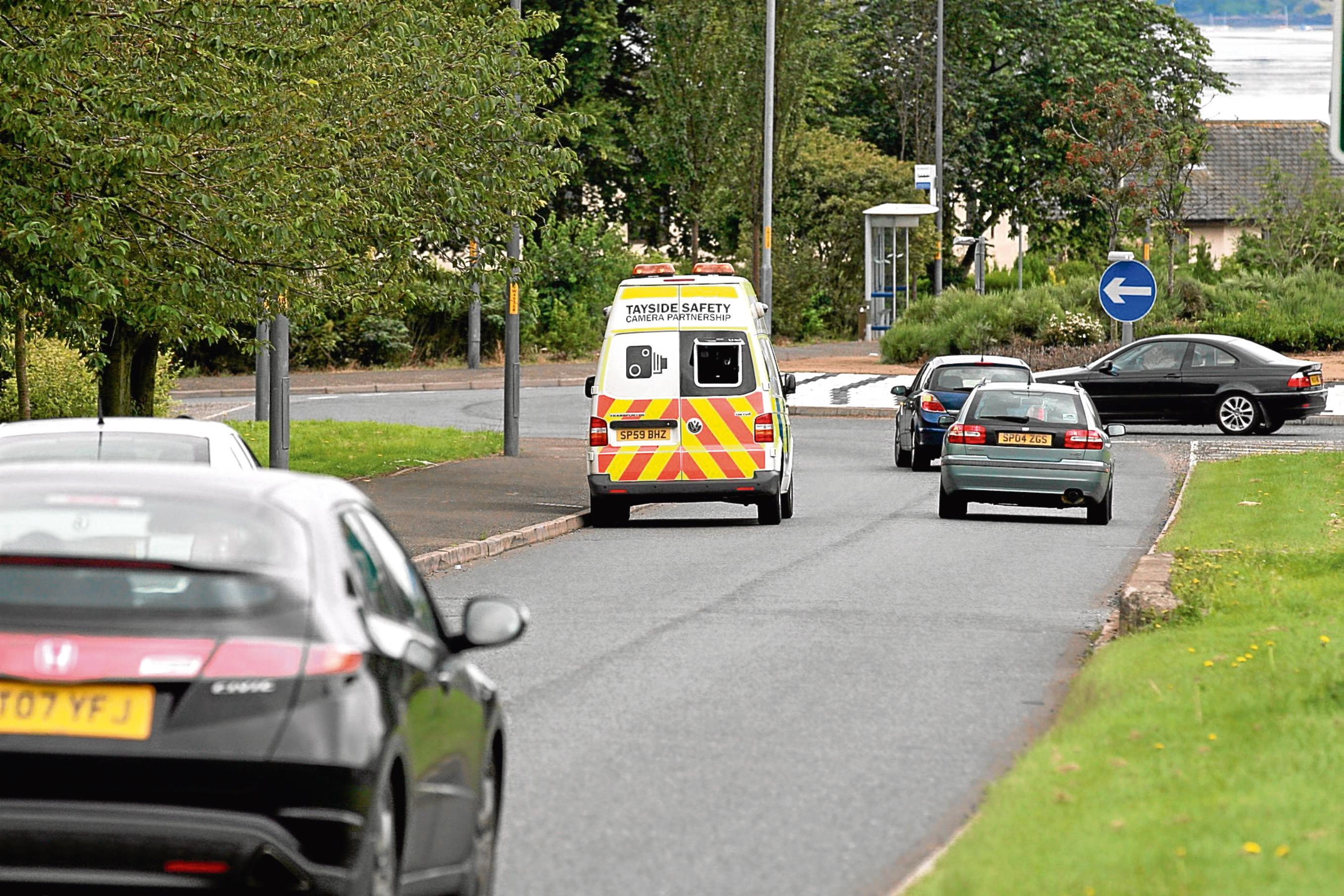 A speed camera van on Dundee's Greendykes Road.