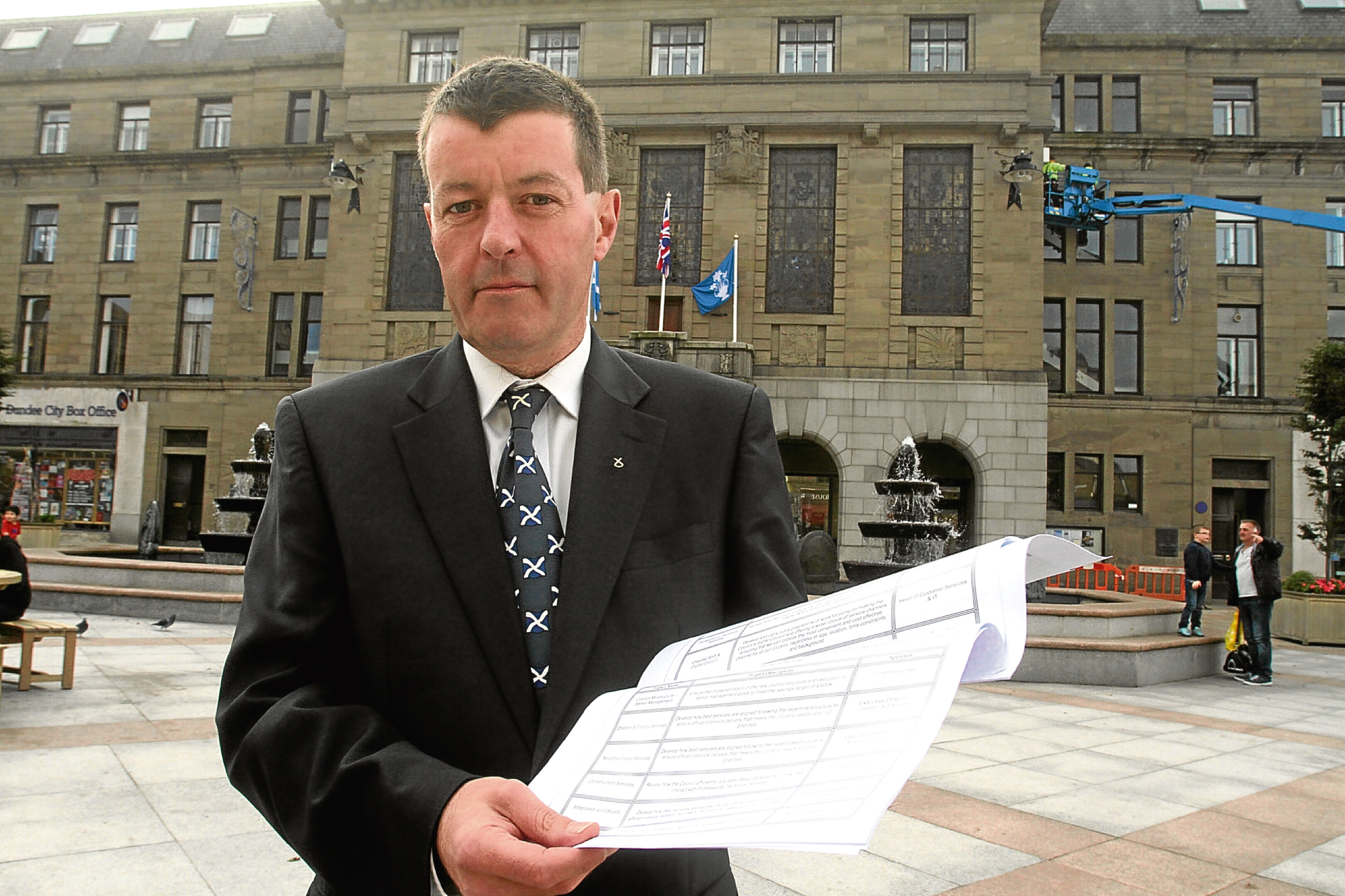 Councillor Willie Sawers, who is the council's finance spokesman.