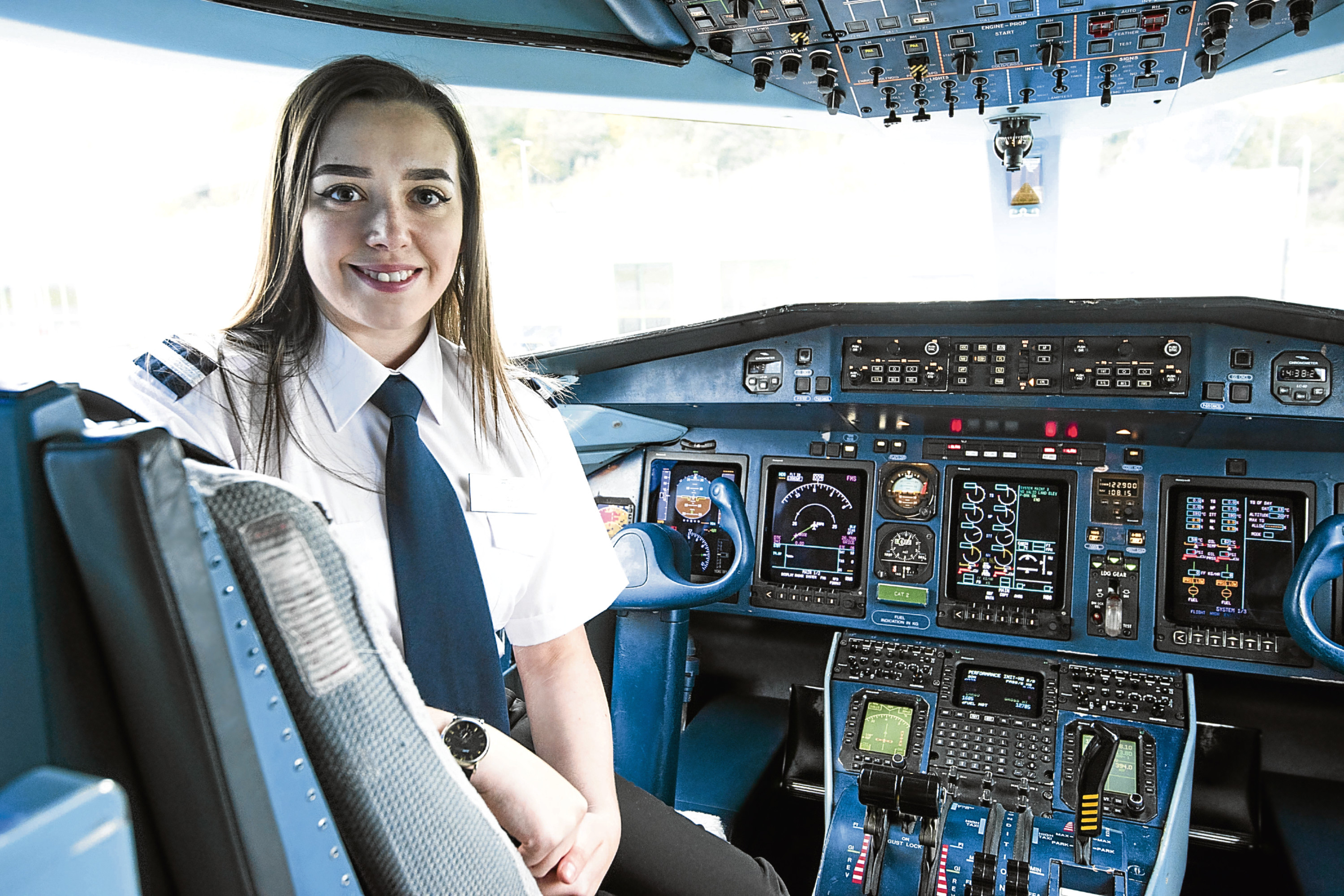 Sophie Martin is set to become a qualified commercial pilot at just 21.