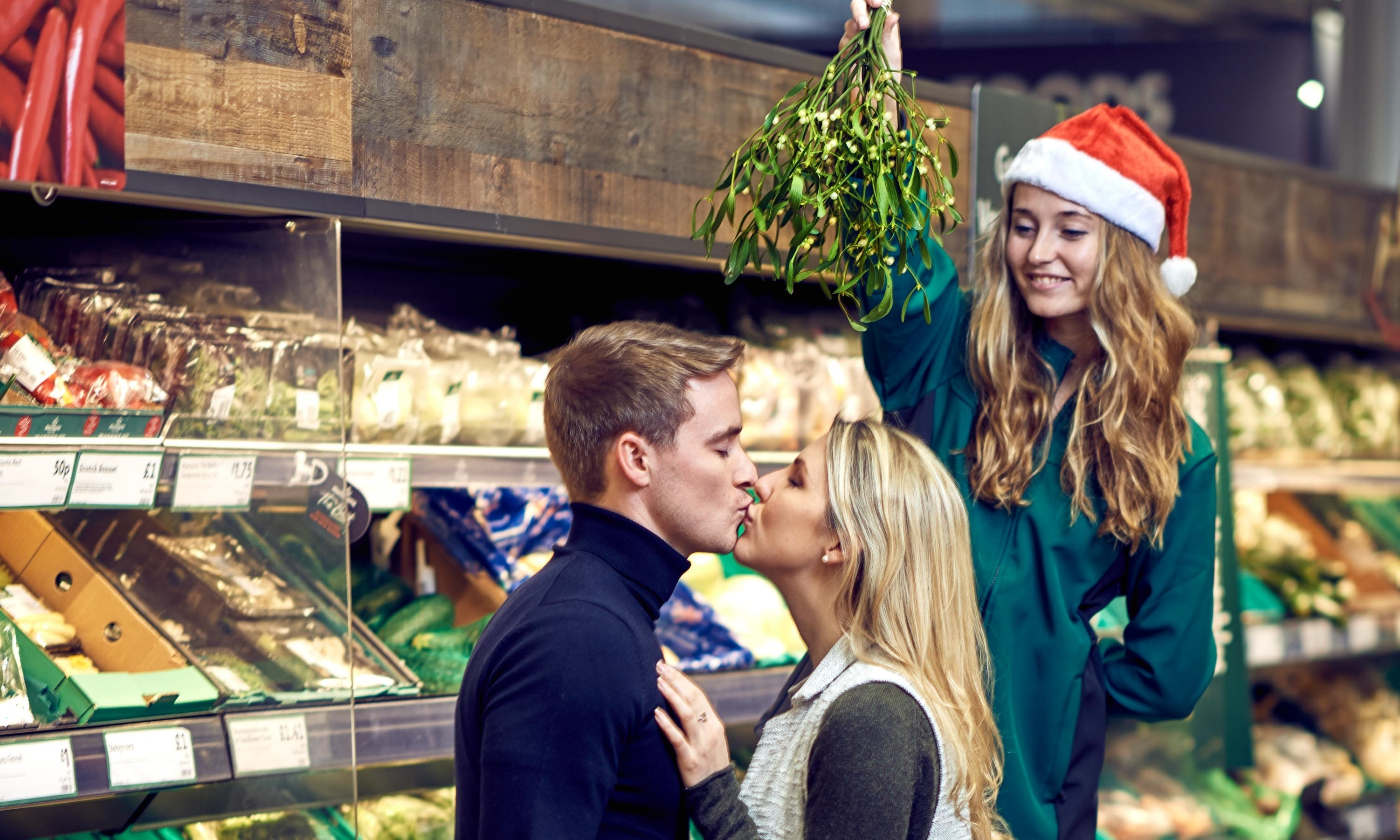 Morrisons is giving away sprigs of mistletoe this year in an effort to increase festive romance.