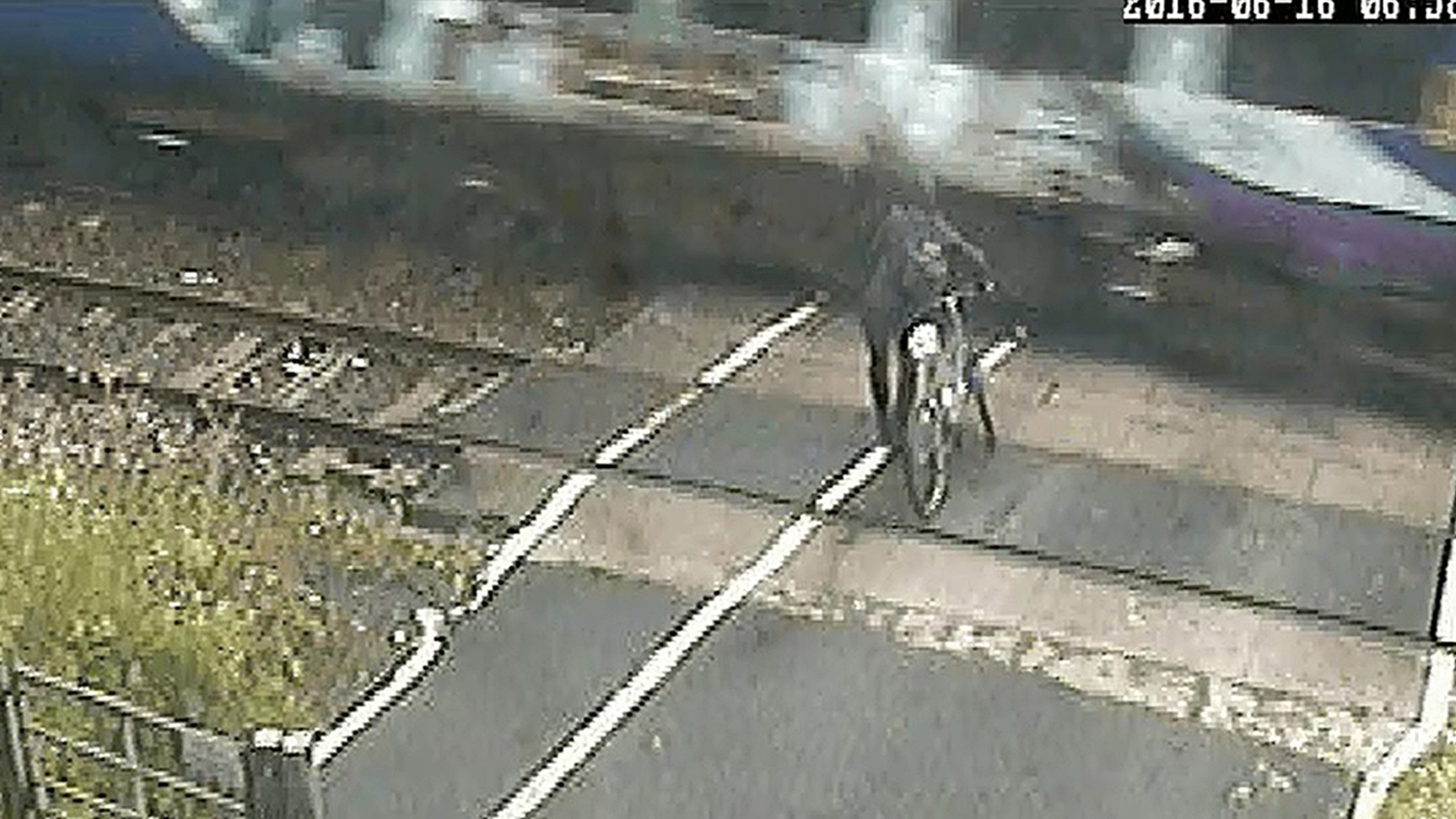He came within inches of being hit at a level crossing in Leeds.