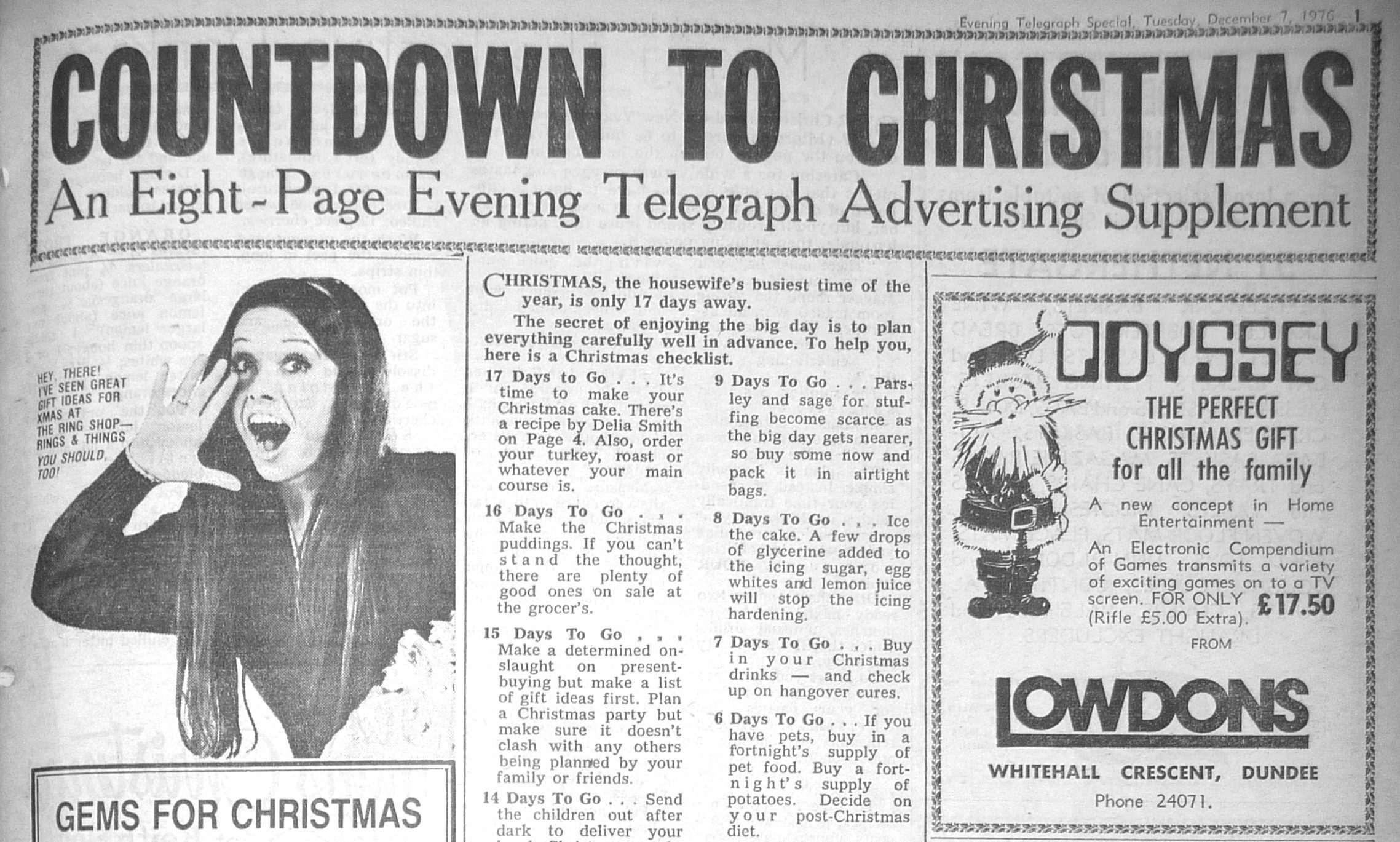 The Tele's Christmas supplement 40 years ago