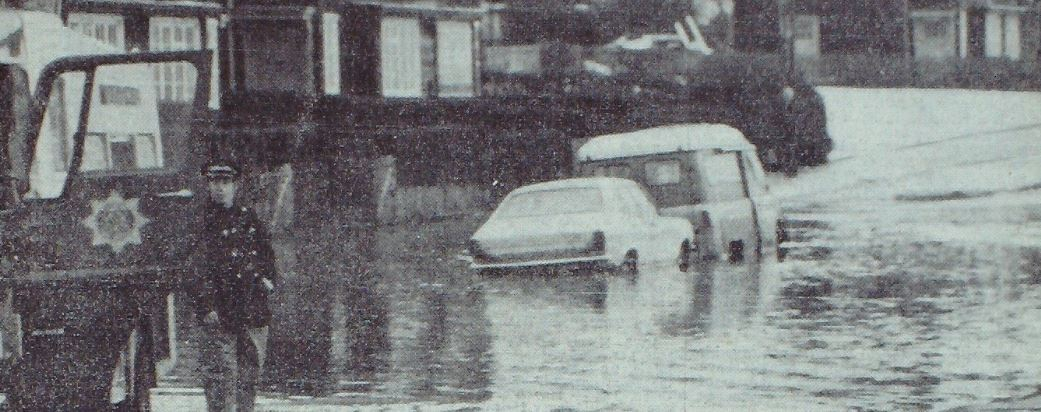 Robert Fraser's car and van engulfed in water in Linlathen due to a burst main