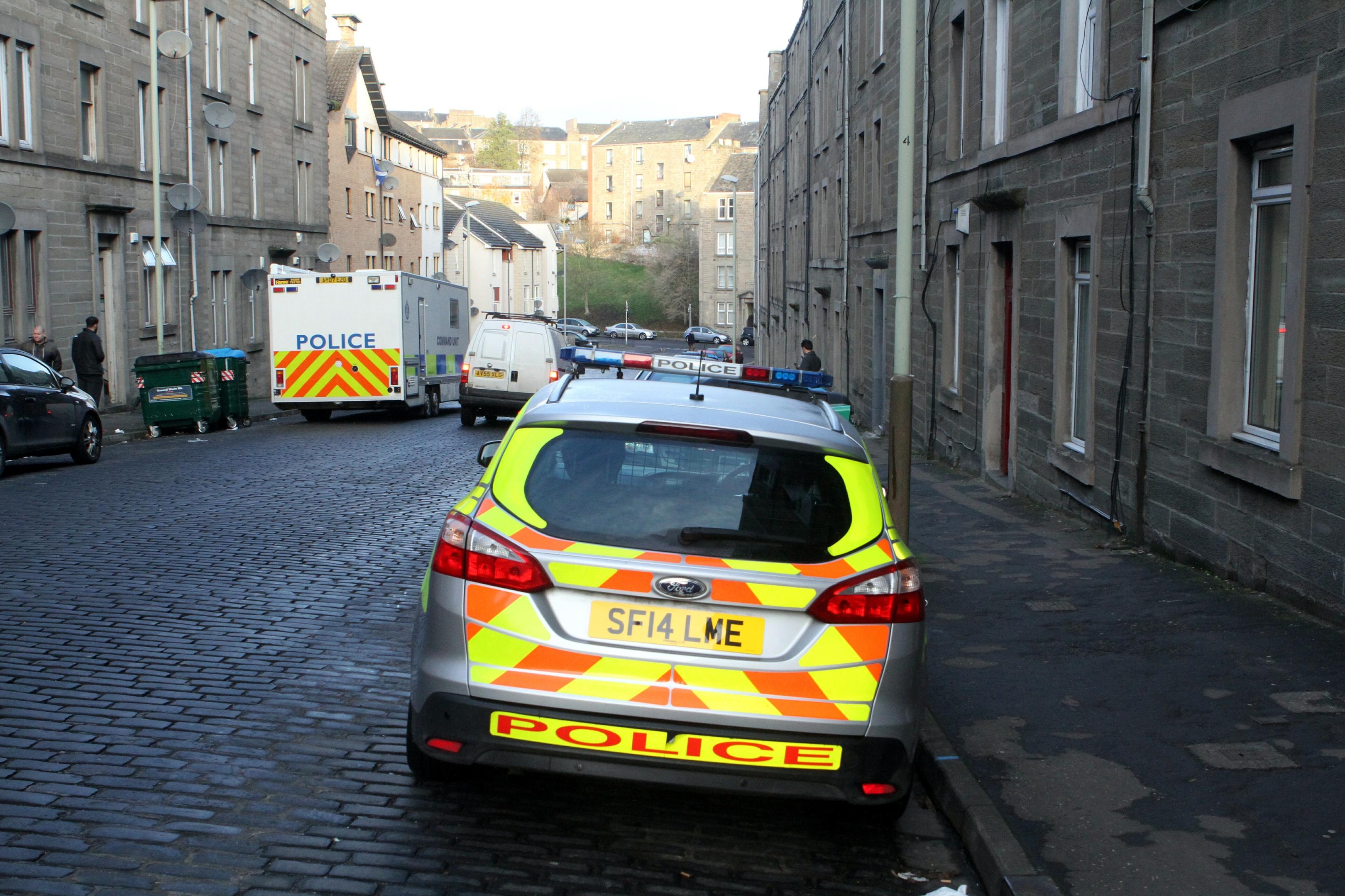 Police on Rosefield Street