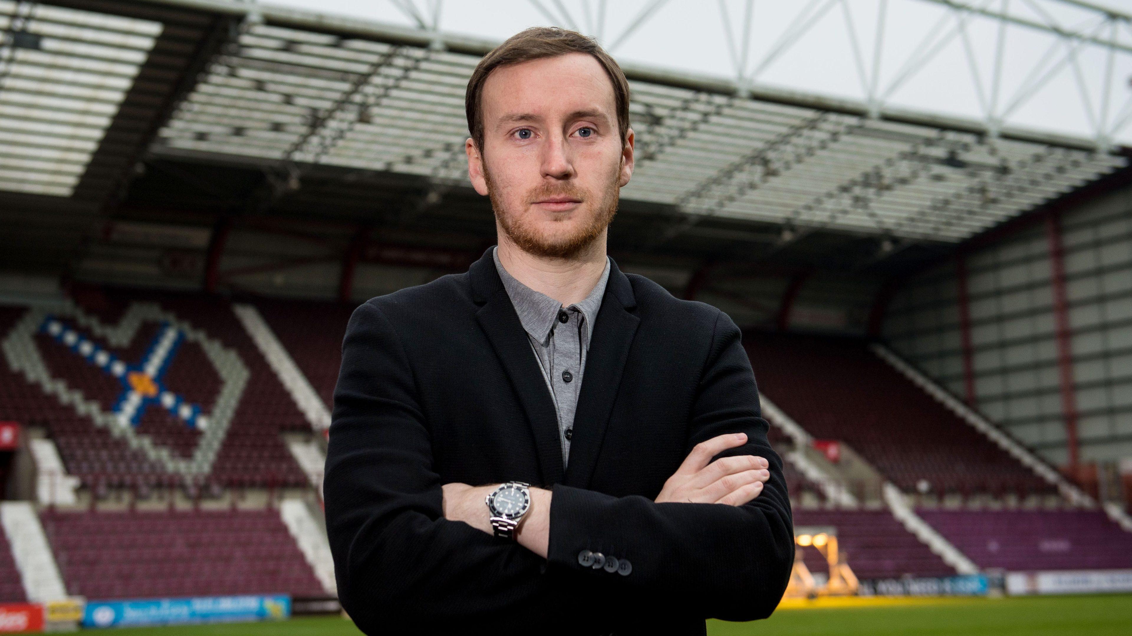 Hearts' new head coach Ian Cathro