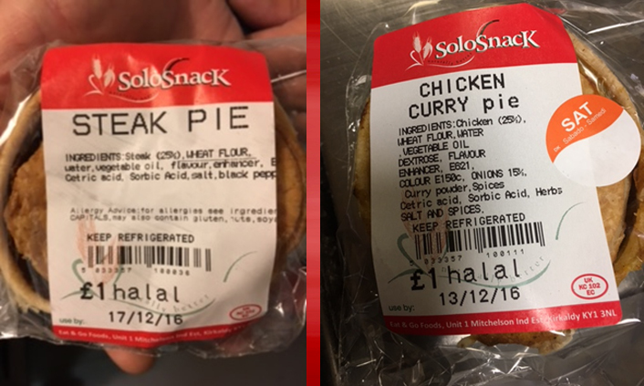 Two of the products Food Standards are advising people not to eat