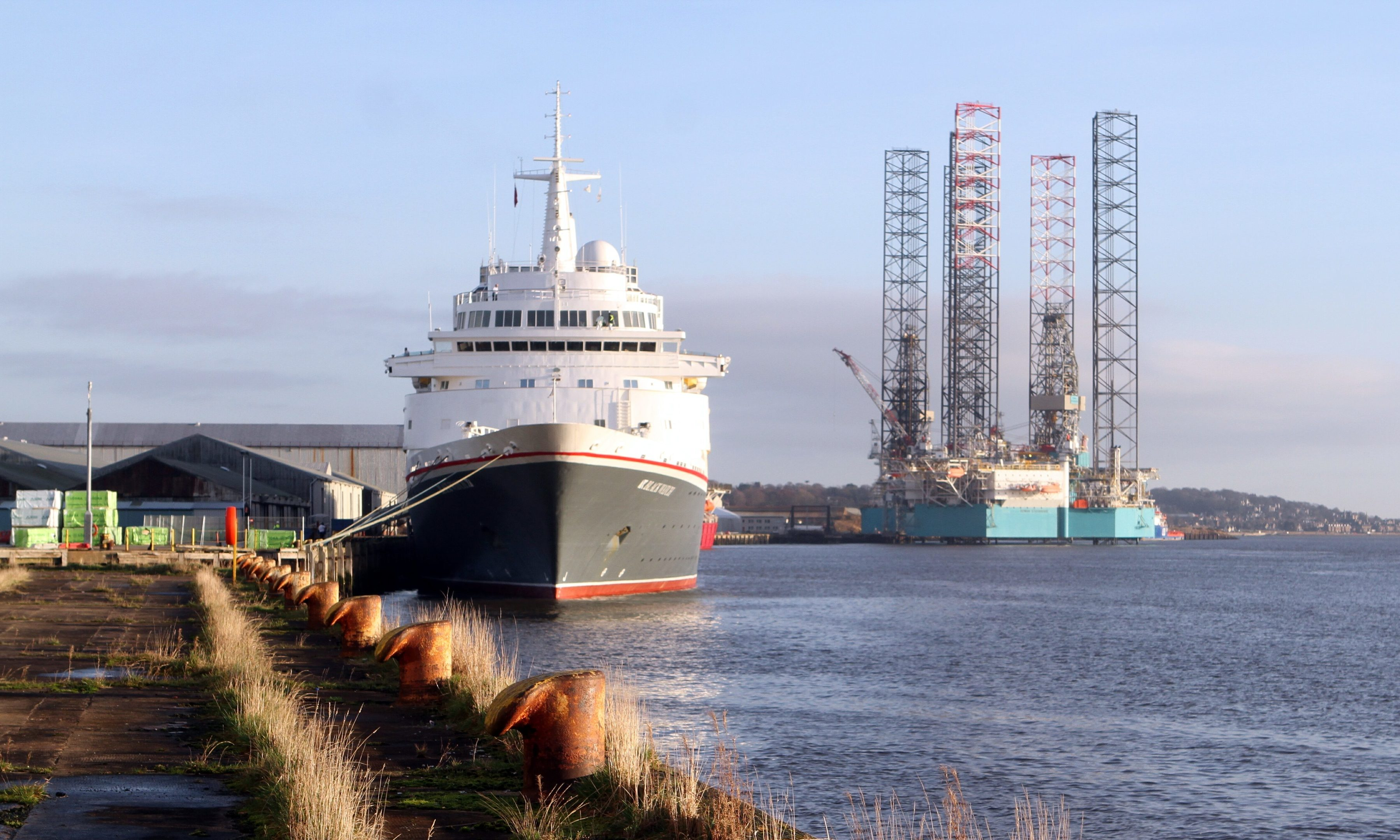 The Black Watch berthed in Dundee yesterday