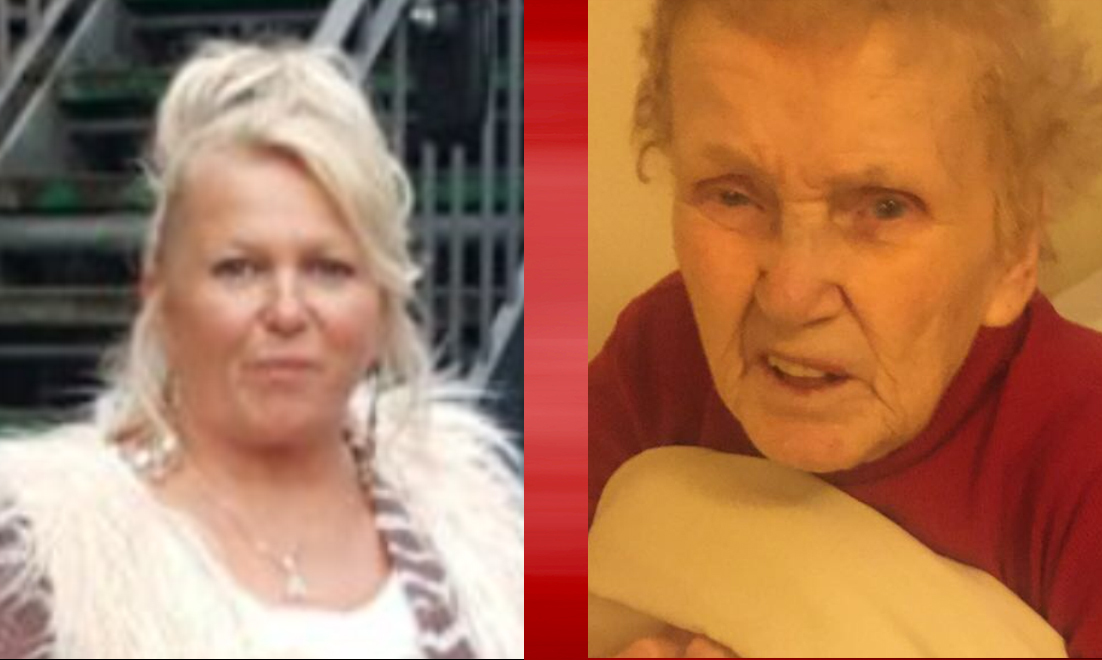 Audrey and Alice Spratt (right). The 85-year-old  has been threatened with eviction from her care home in Broughty Ferry.