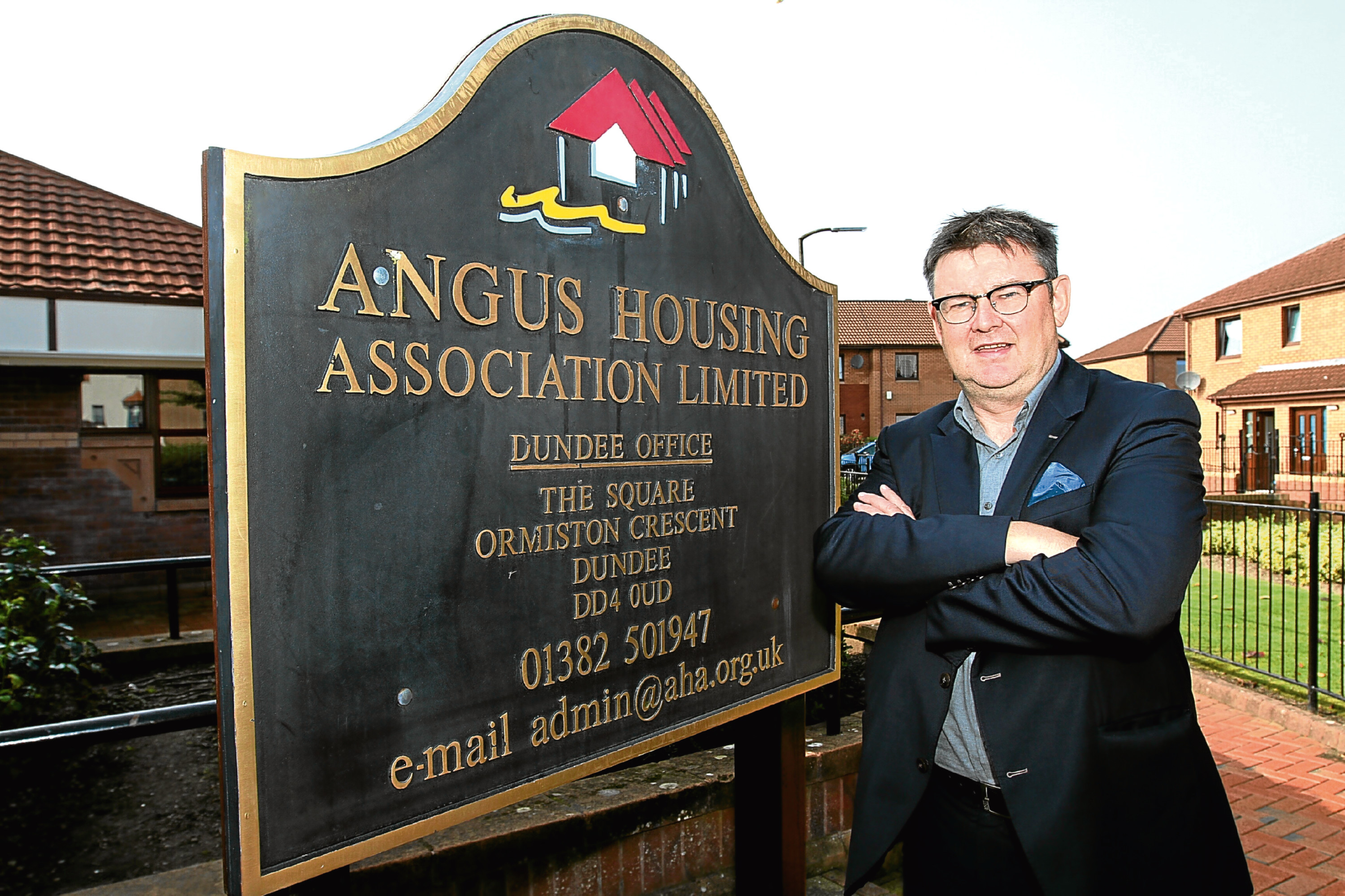 Bruce Forbes, director of Angus Housing Association.