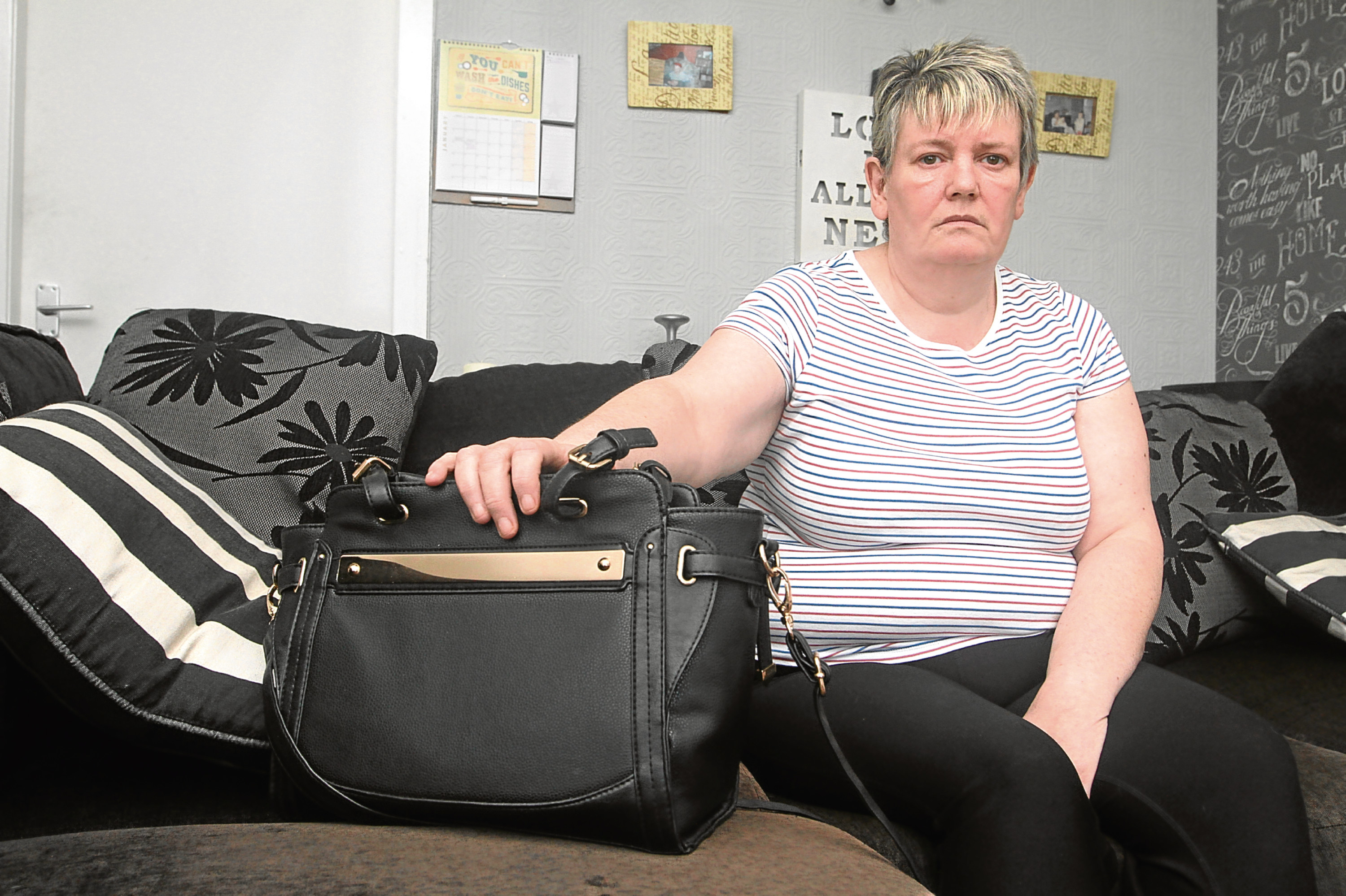 Pauline Yuill confronted a would-be thief who tried to take her purse while walking down the Marketgait.