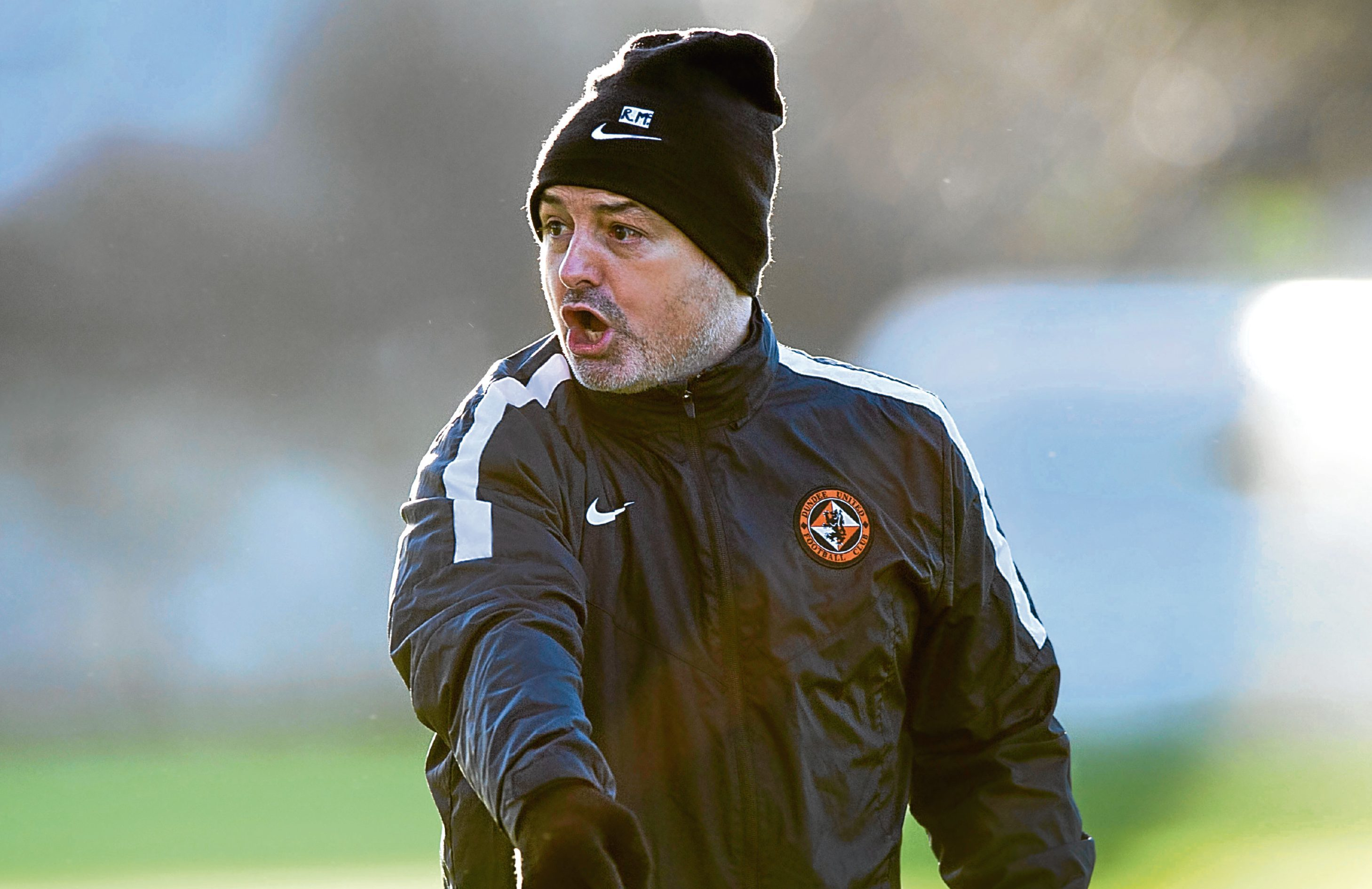 Ray McKinnon at Dundee United training