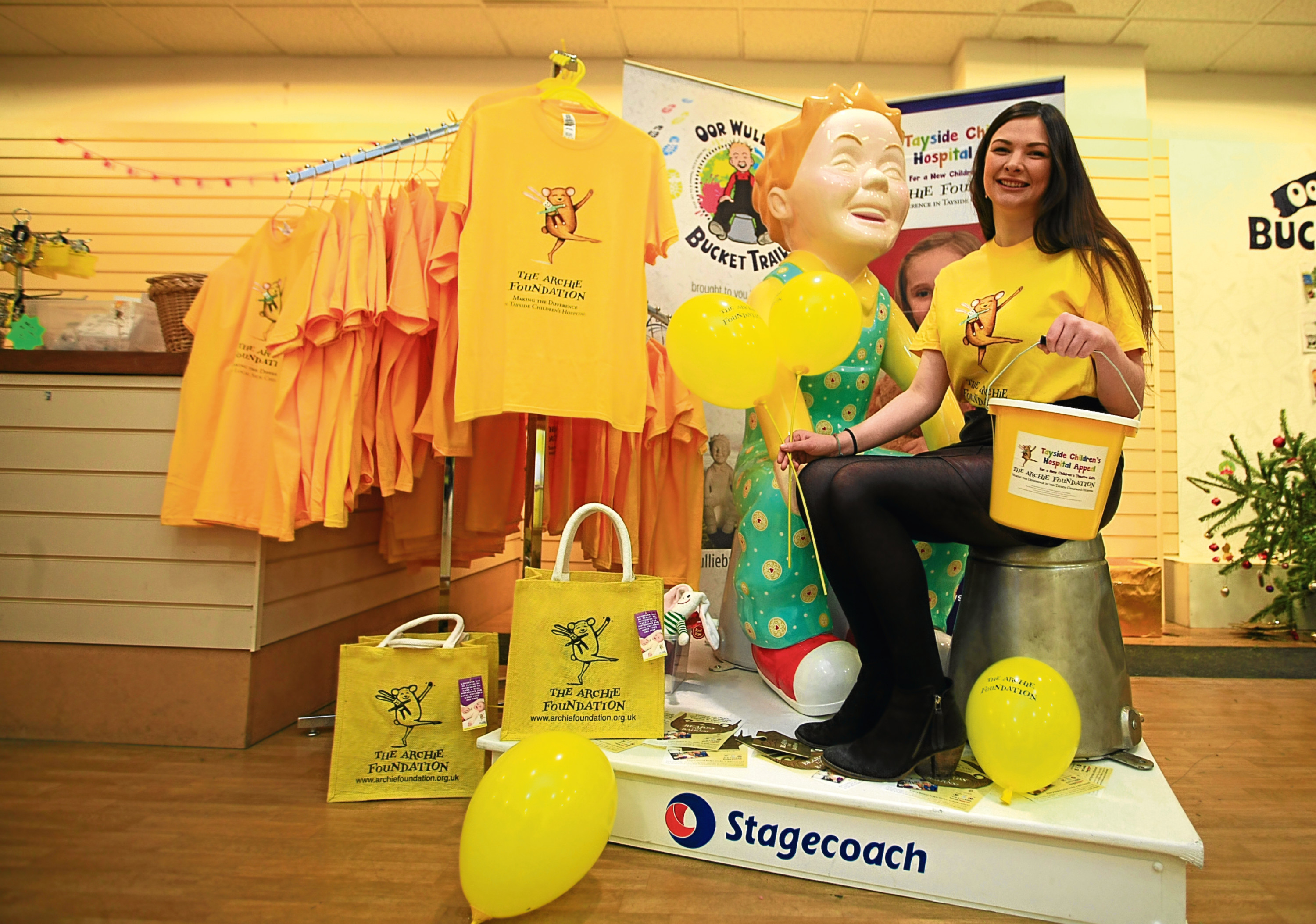 The Archie Foundation's Event Co-ordinator Caitlan Wolsey at their shop in the Wellgate