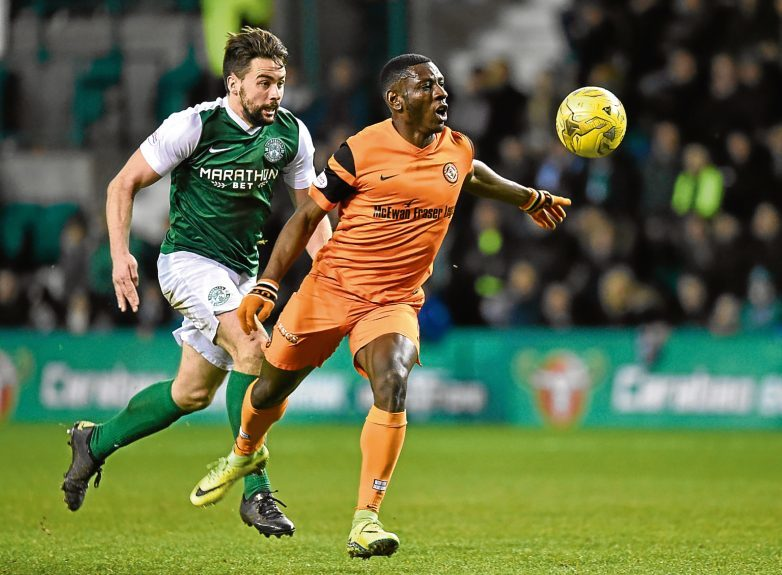 Tope Obadeyi had United's best chance on a poor evening for the Tangerines.