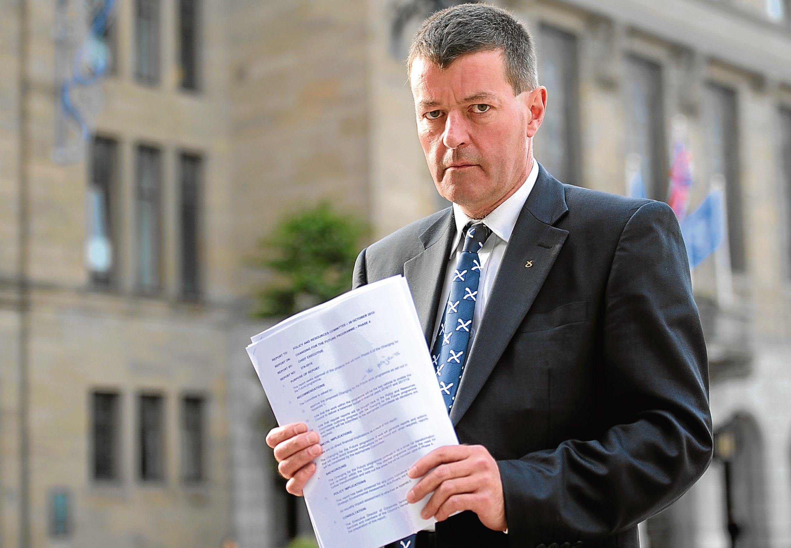 Dundee City Council finance chief Willie Sawers