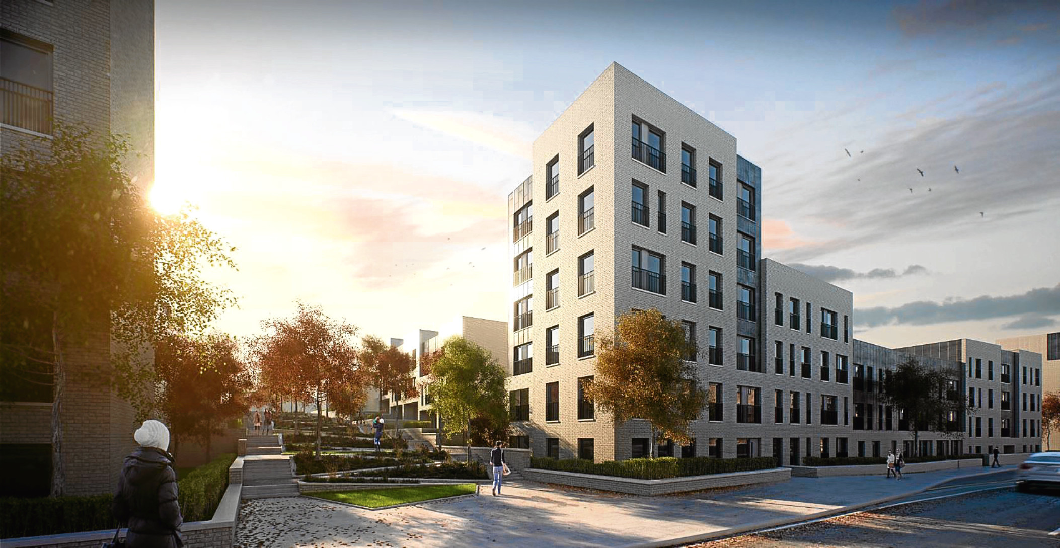 An artist's impression of the planned development at Russell Street.