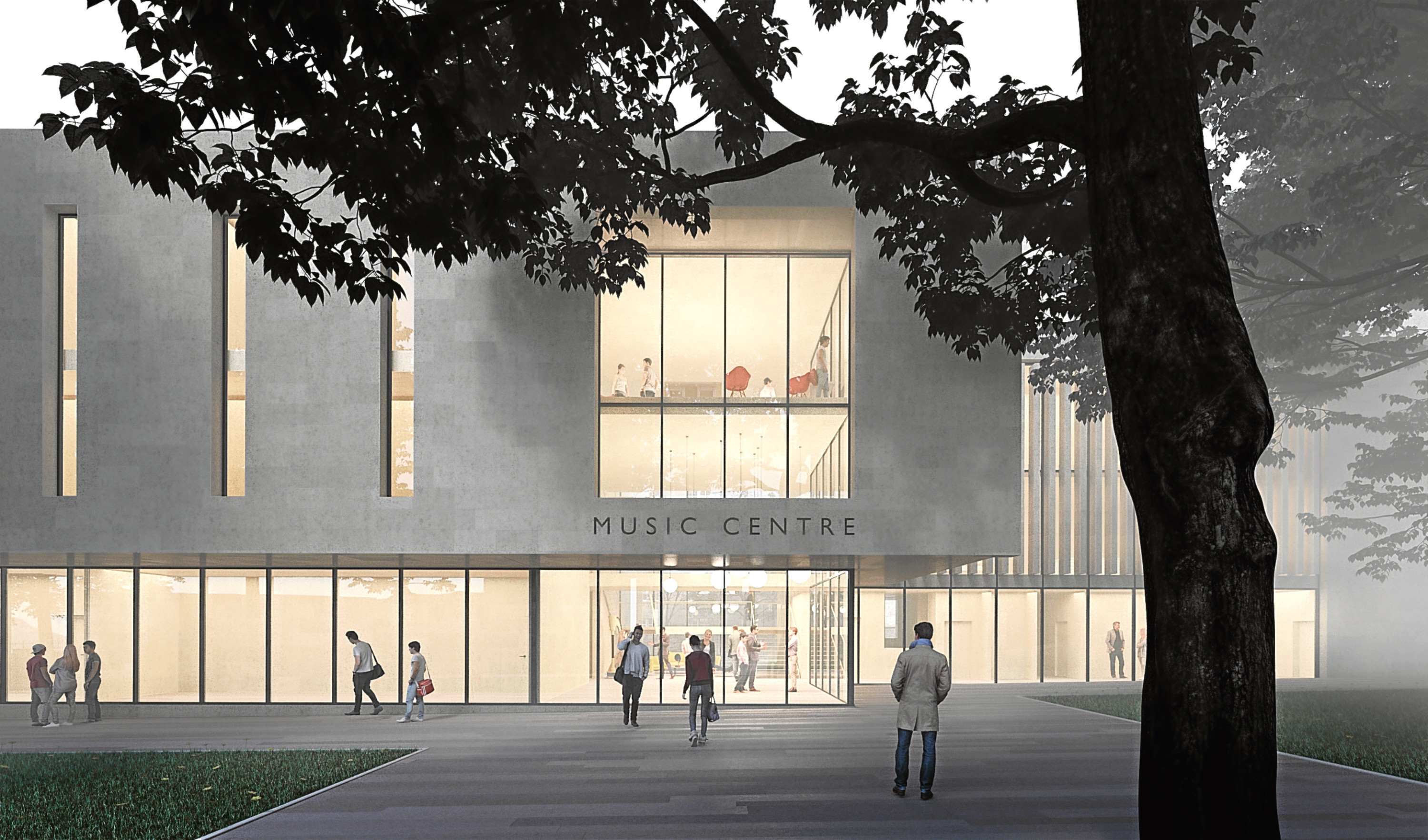 An artist's impression of how the new music centre could look.