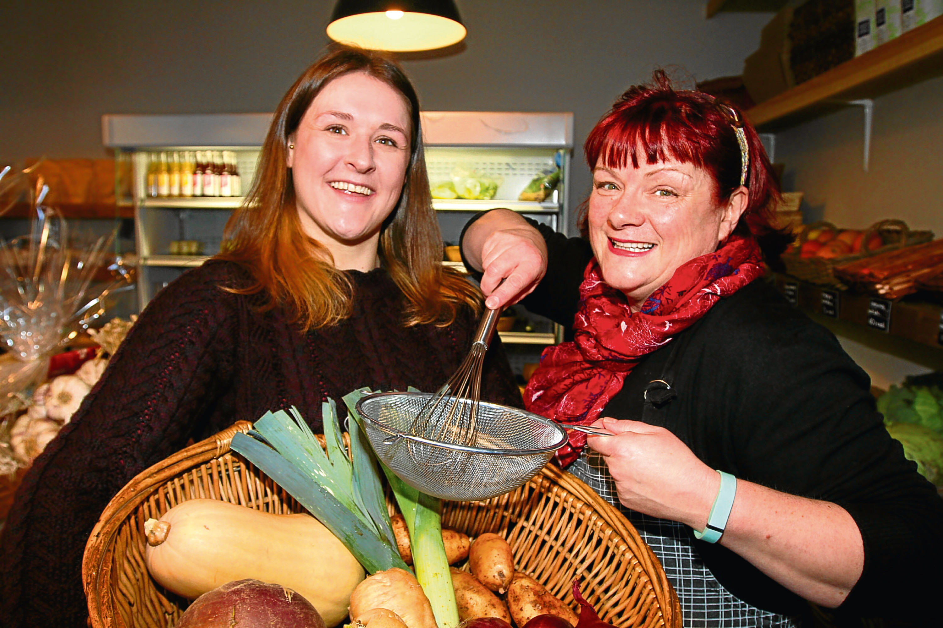 Bethany Bowles from Gather and Libby McAinsh from Two Sisters Cafe, who both had visits from contestants in the Great British Bake Off.