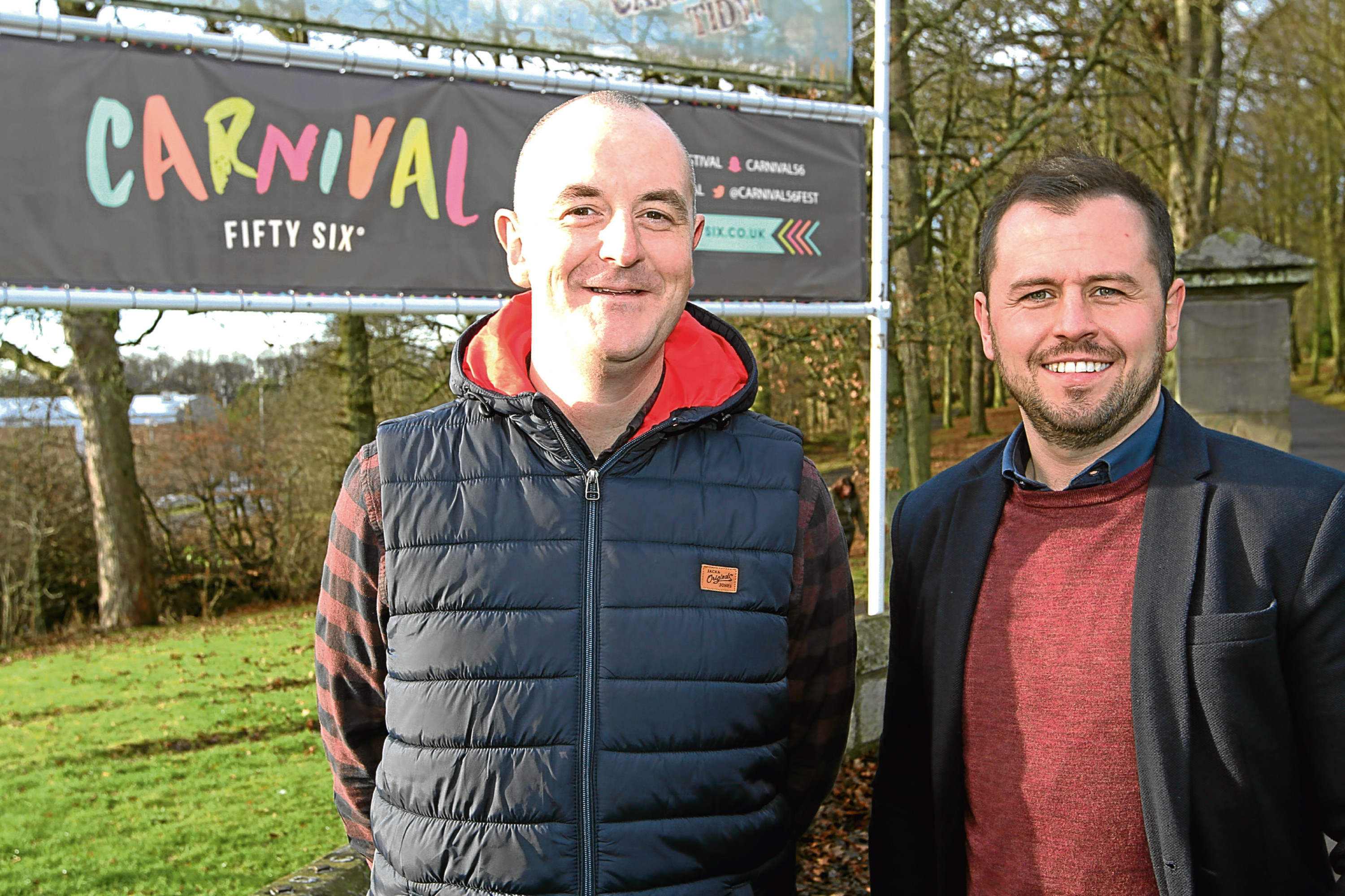 Carnival 56 event manager Steve Reynolds and founder Craig Blyth