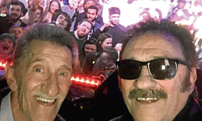 The comedy duo posed for a selfie during their appearance at Dundee university.