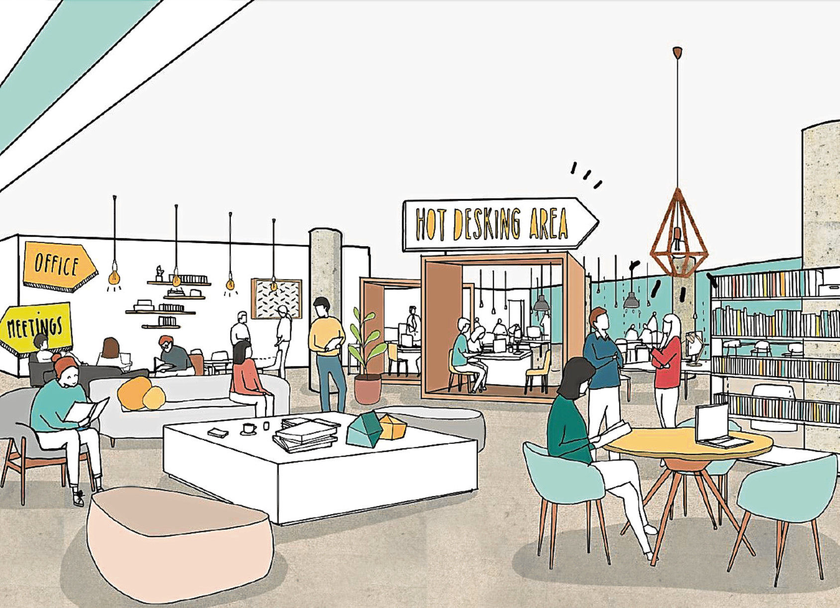 An artist's impression of how part of the design quarter could look.
