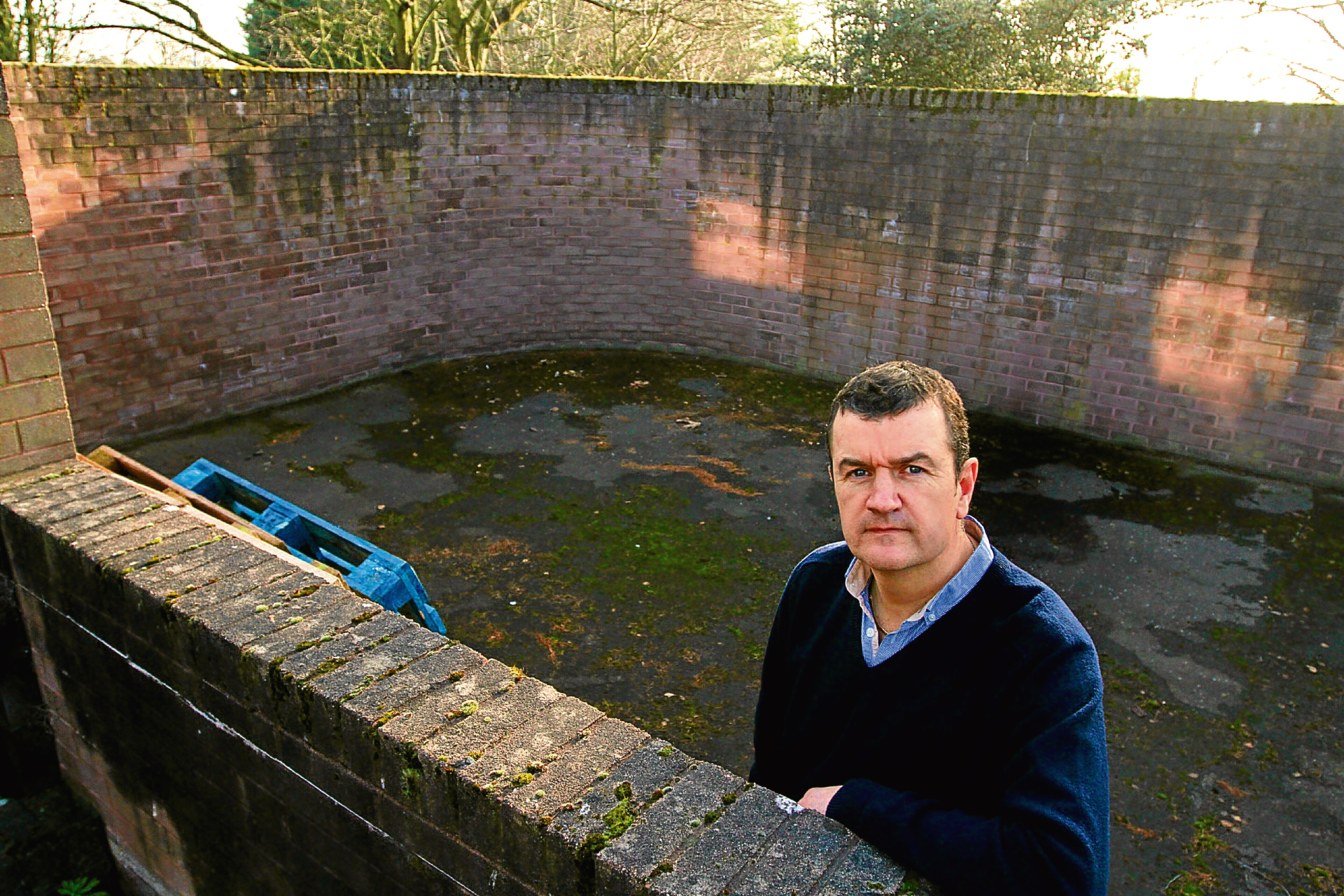 Dave Barrie at the site of the proposed remembrance garden.