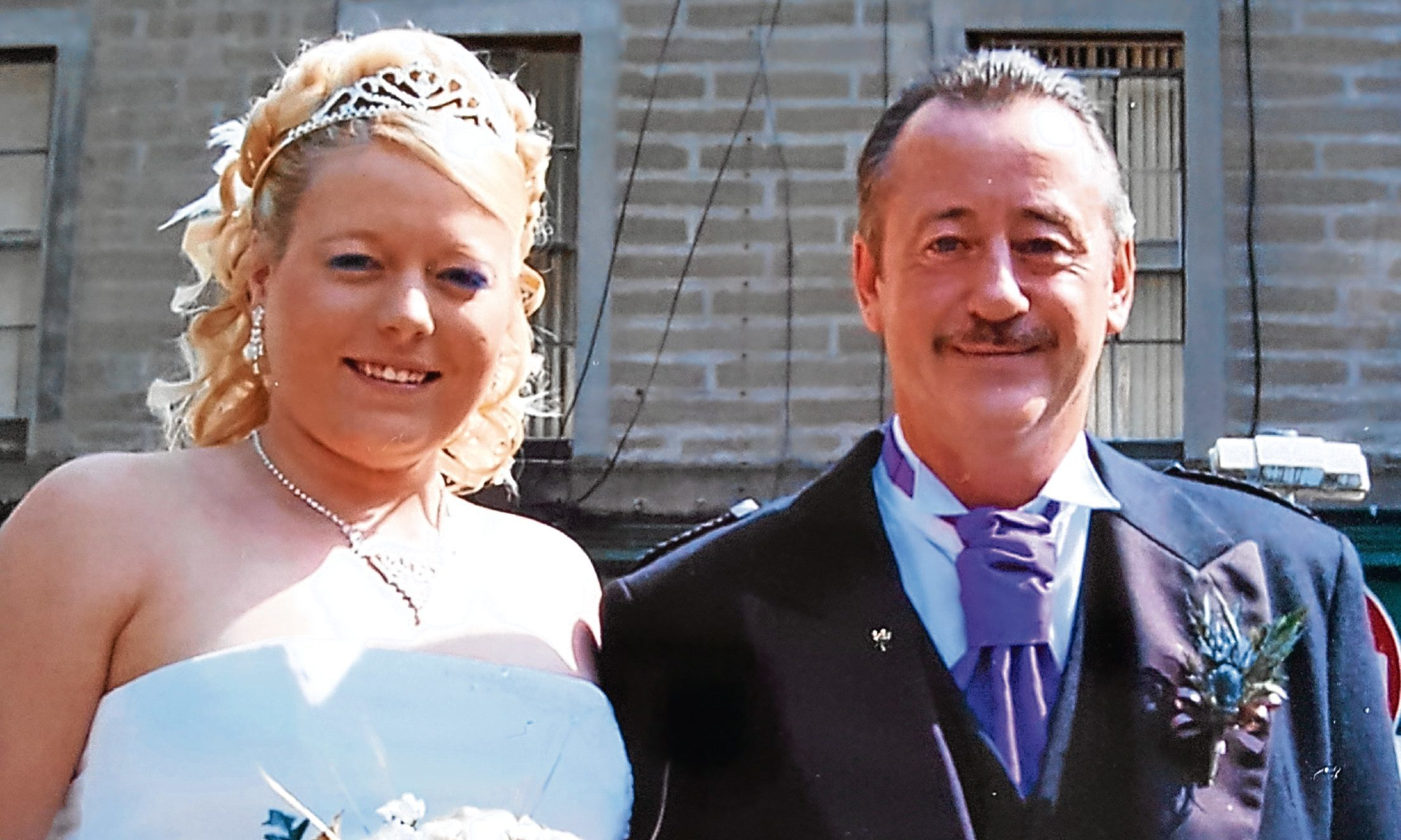 Samantha with dad Ian on her wedding day