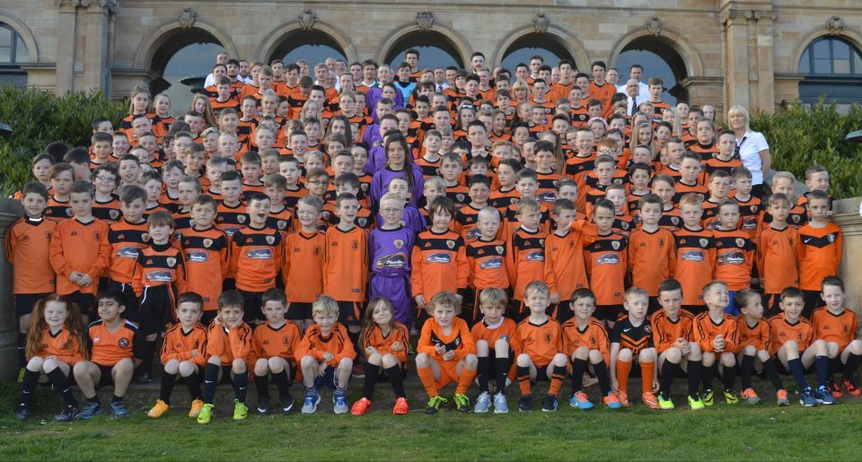 Dundee United Sports Club continue to make fantastic progress and the club now have a player pathway for boys and girls from five-years-old to adults with links to local amateur and junior clubs. There are over 100 children playing in Fun Fours each week and the club's volunteers have the chance to develop their coaching qualifications and take some further education. The club also played a big part in the development of the new Craigie 3G.