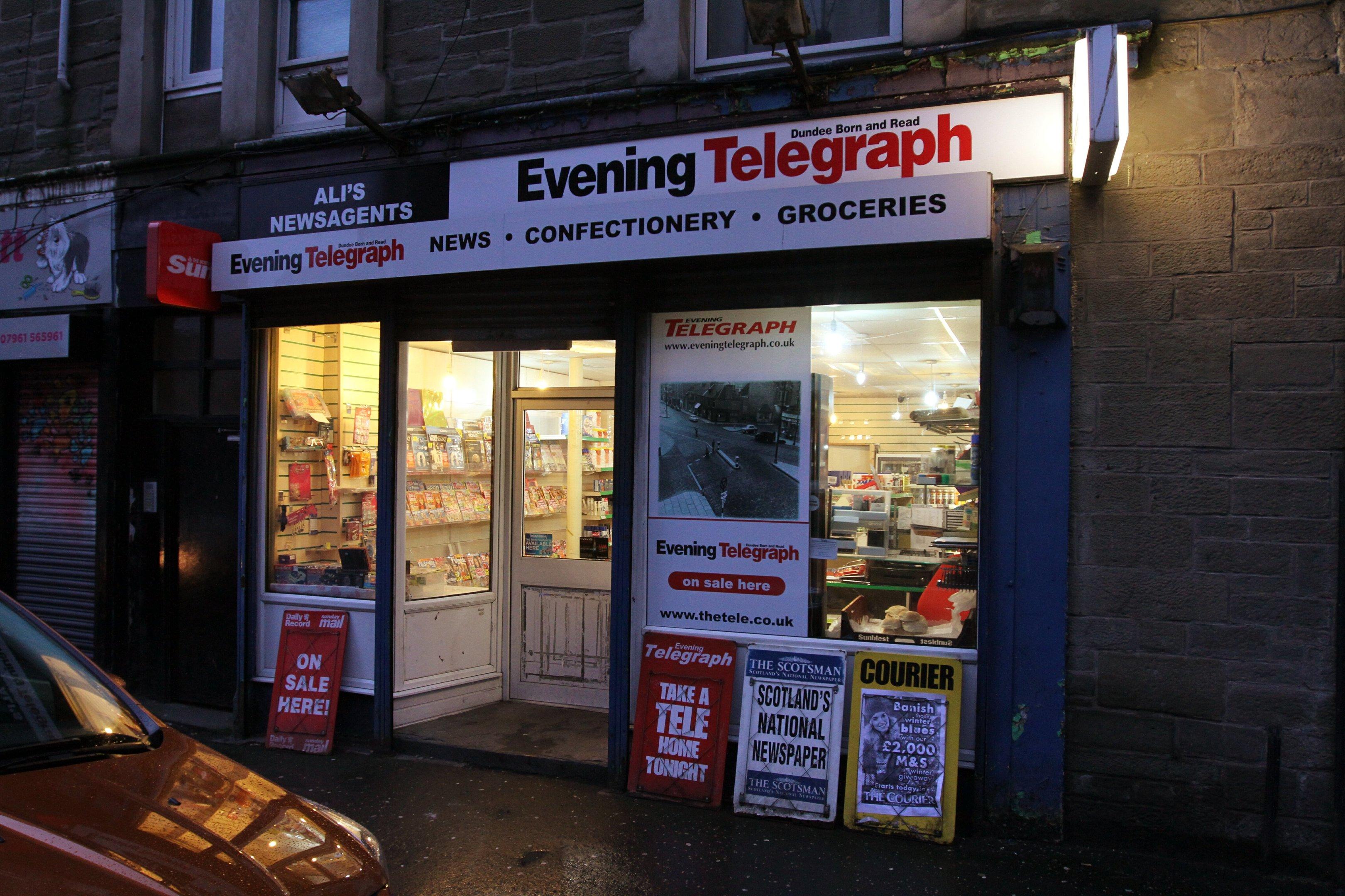 Ali's Newsagent, in Balmore Street.