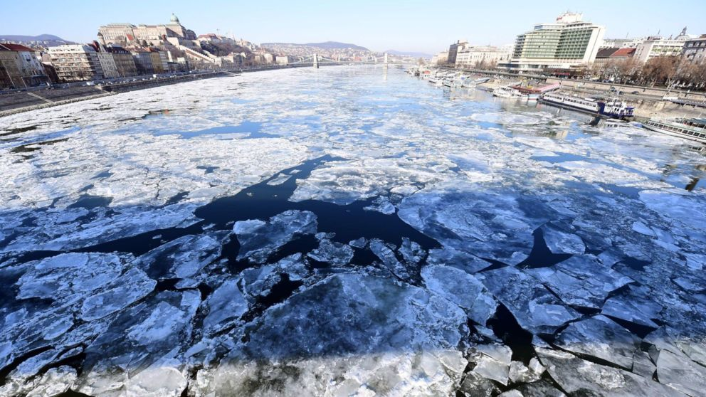 With Tayside braced for snow, it is unlikely to get as cold as in Hungary, where ice floats on the Danube in Budapest.