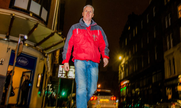 Street chaplain Andrew Burns in the Seagate