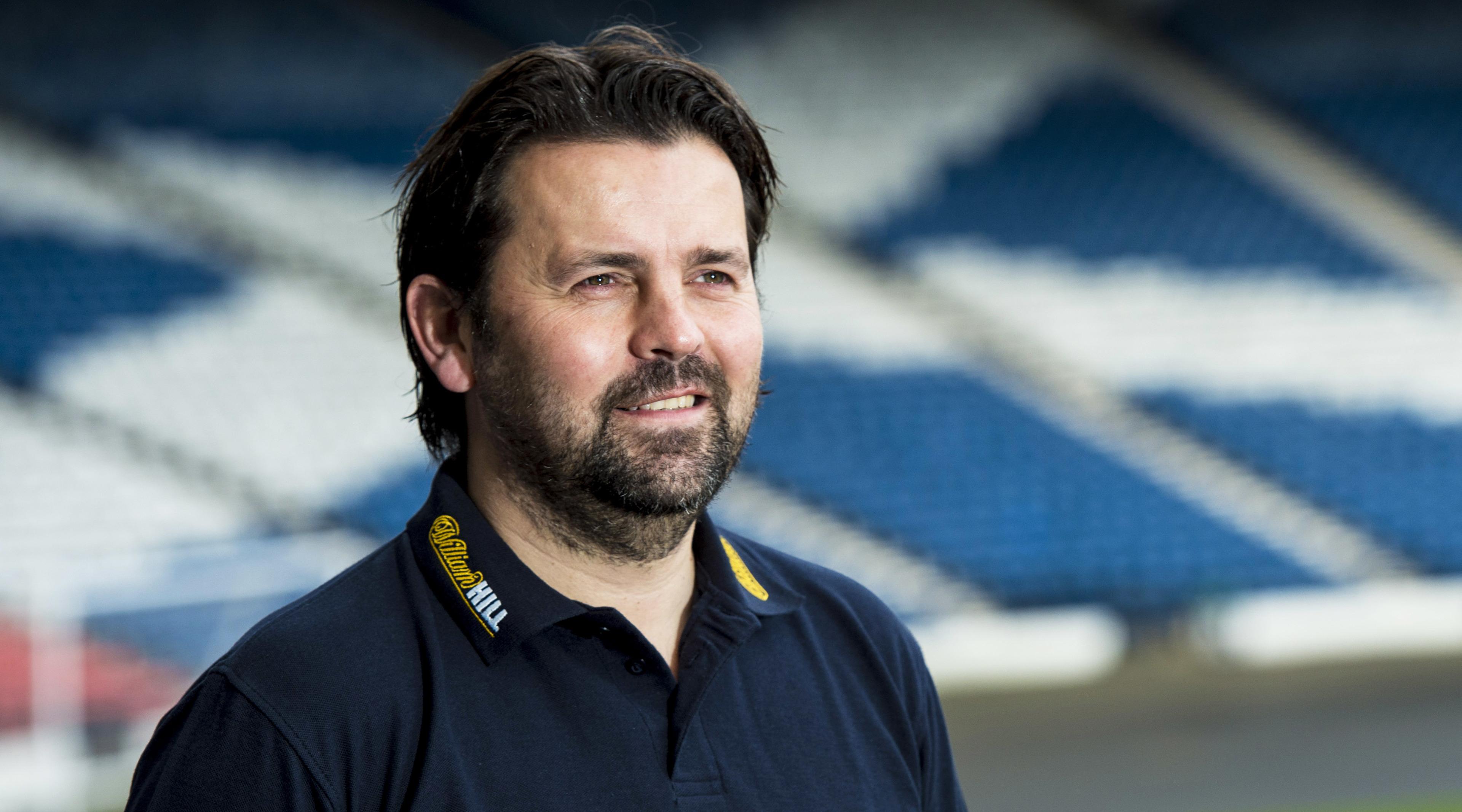 Dundee manager and former Scotland international Paul Hartley at Hampden
