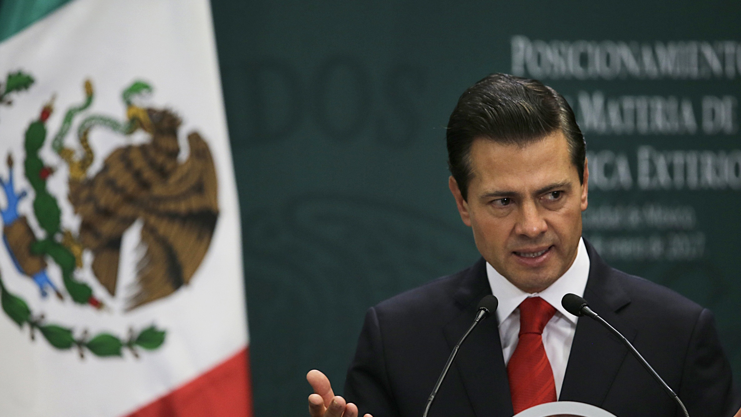Mexico's President Enrique Pena Nieto took to Twitter to say he had informed the White House he would not be visiting Donald Trump next week.