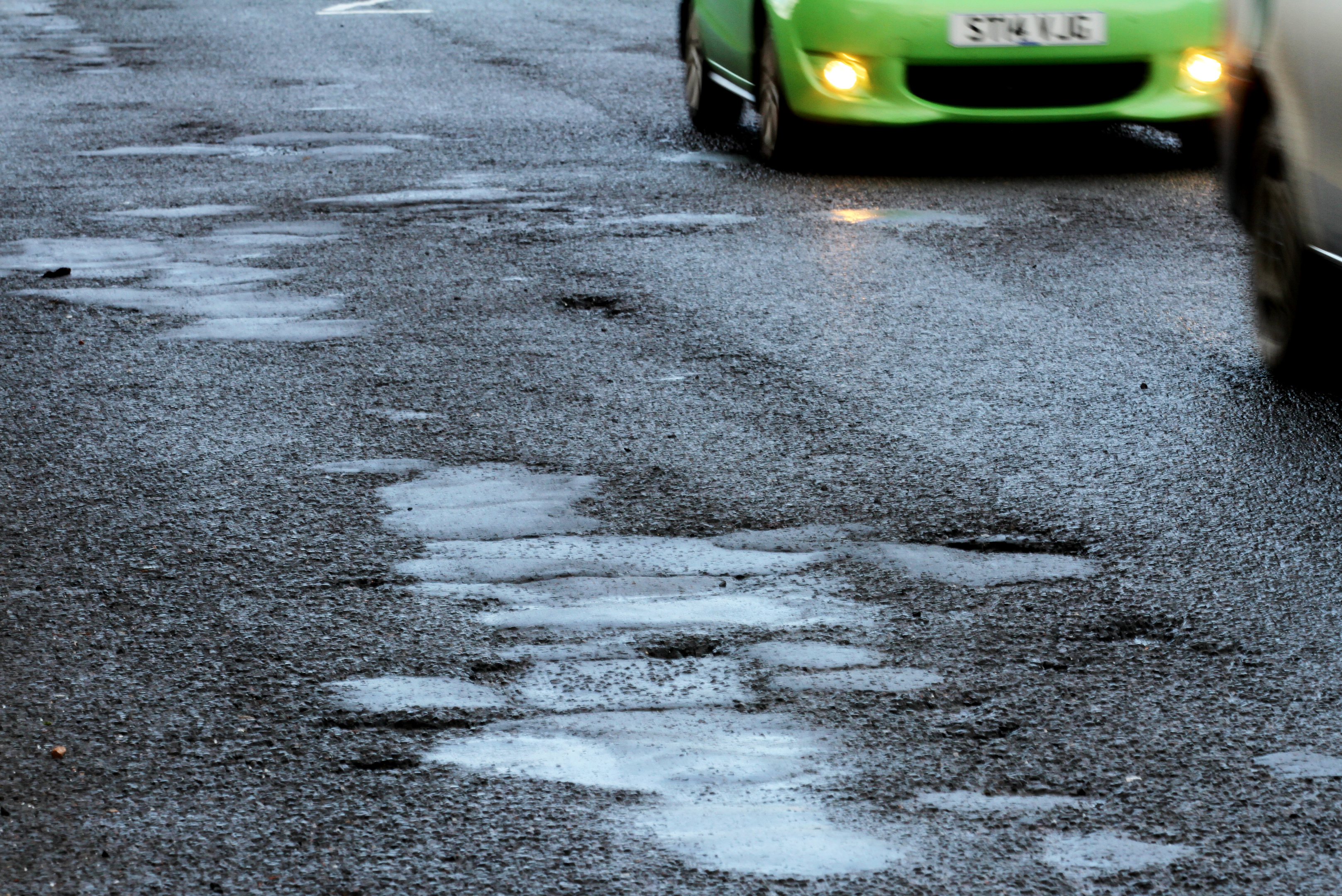Potholes on Turnberry Avenue.