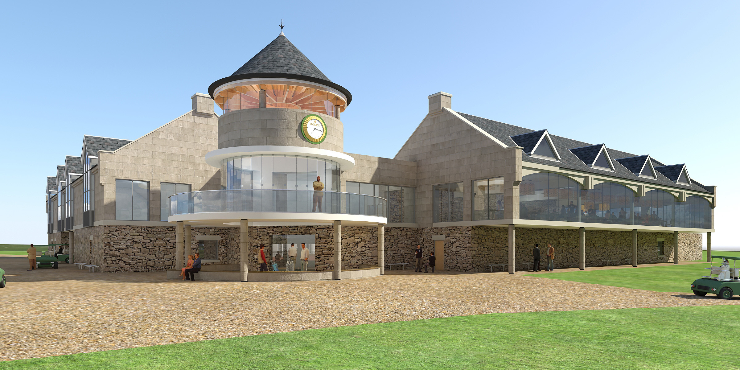 An artist's impression of the Carnoustie Golf Links expansion