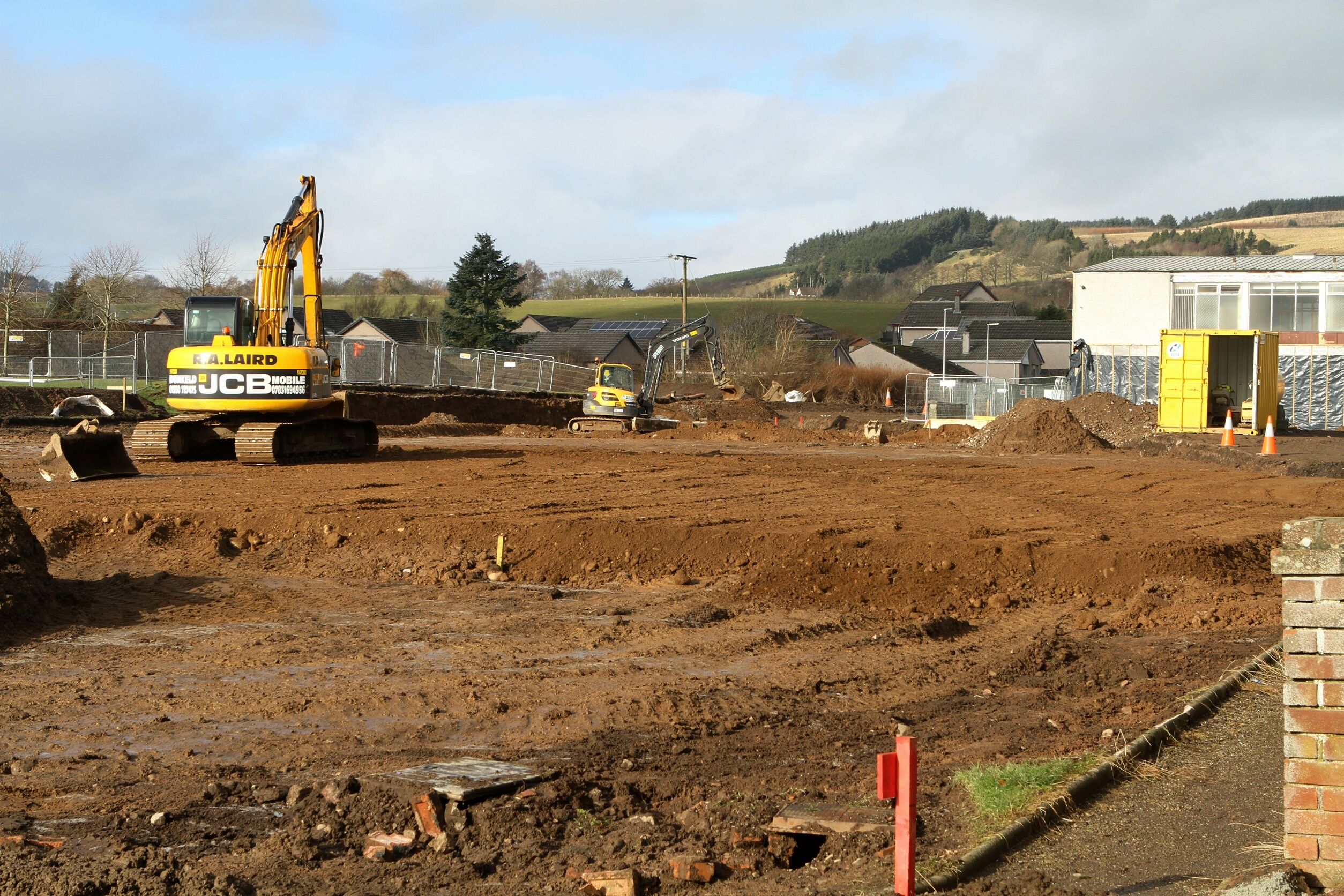Work under way at the school last year
