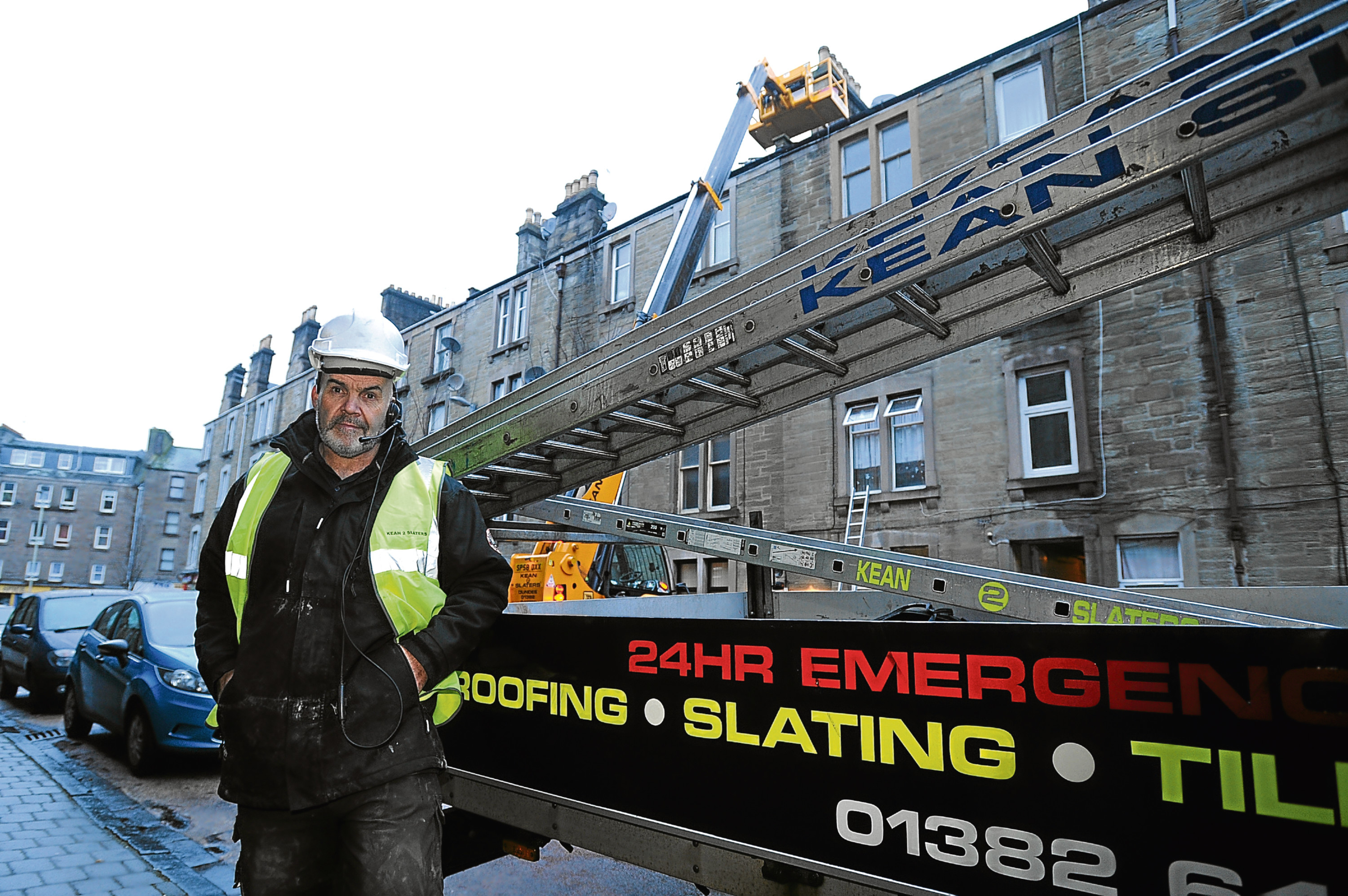 Charlie Kean, whose men suffered the loss while working on a property in Park Avenue, Dundee.