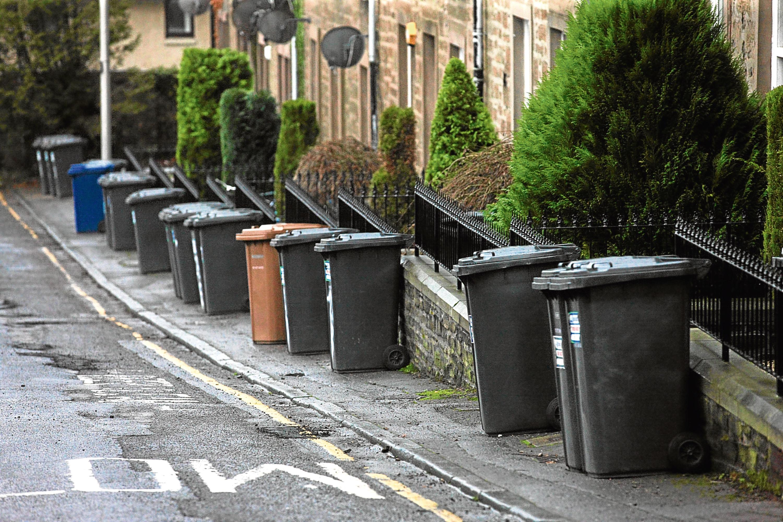 The bins blocking pavements.