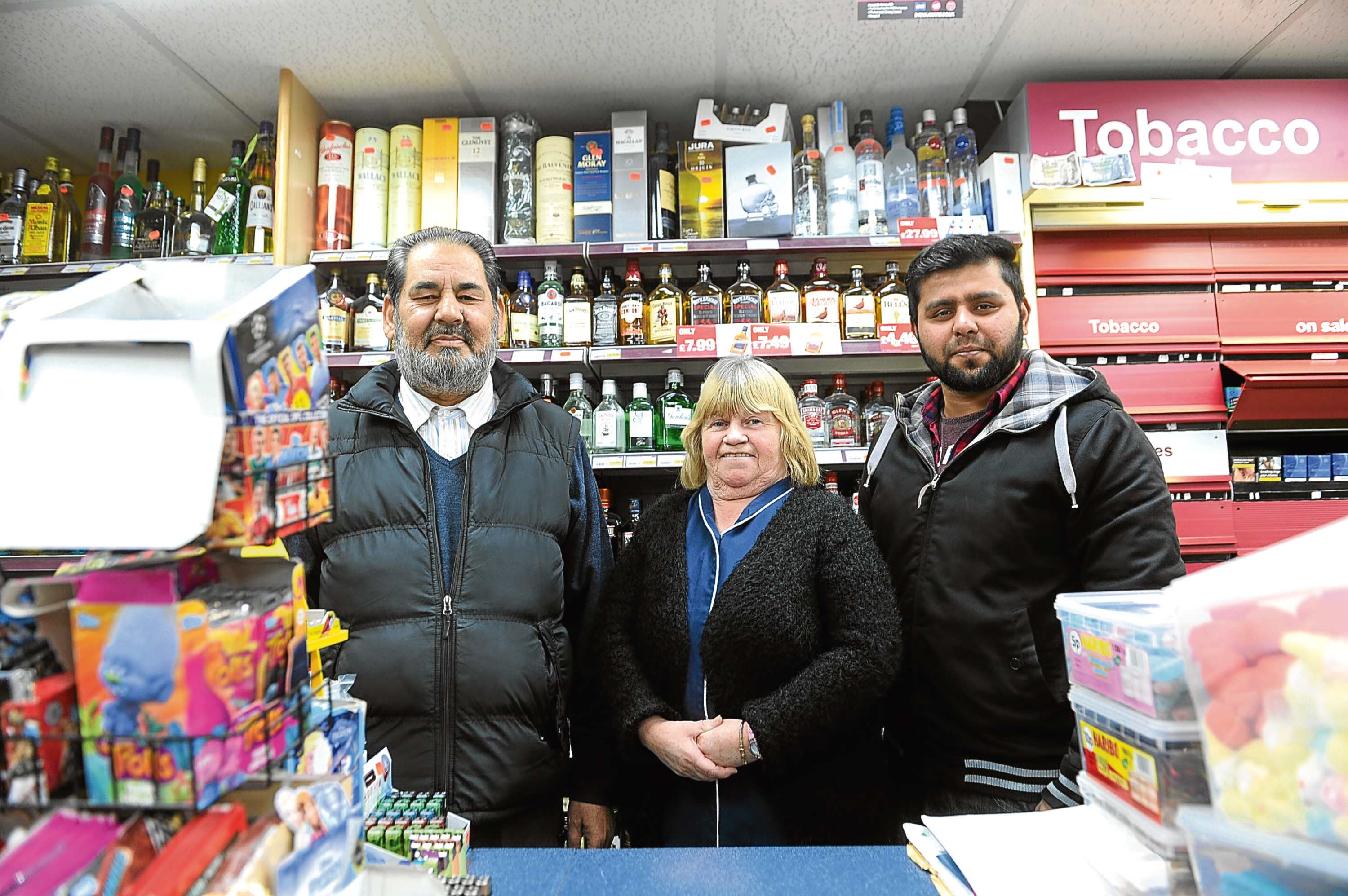 Staff members Mohammed Ataullah-Anis, Lorraine Anderson and Mohammed Zeshan.