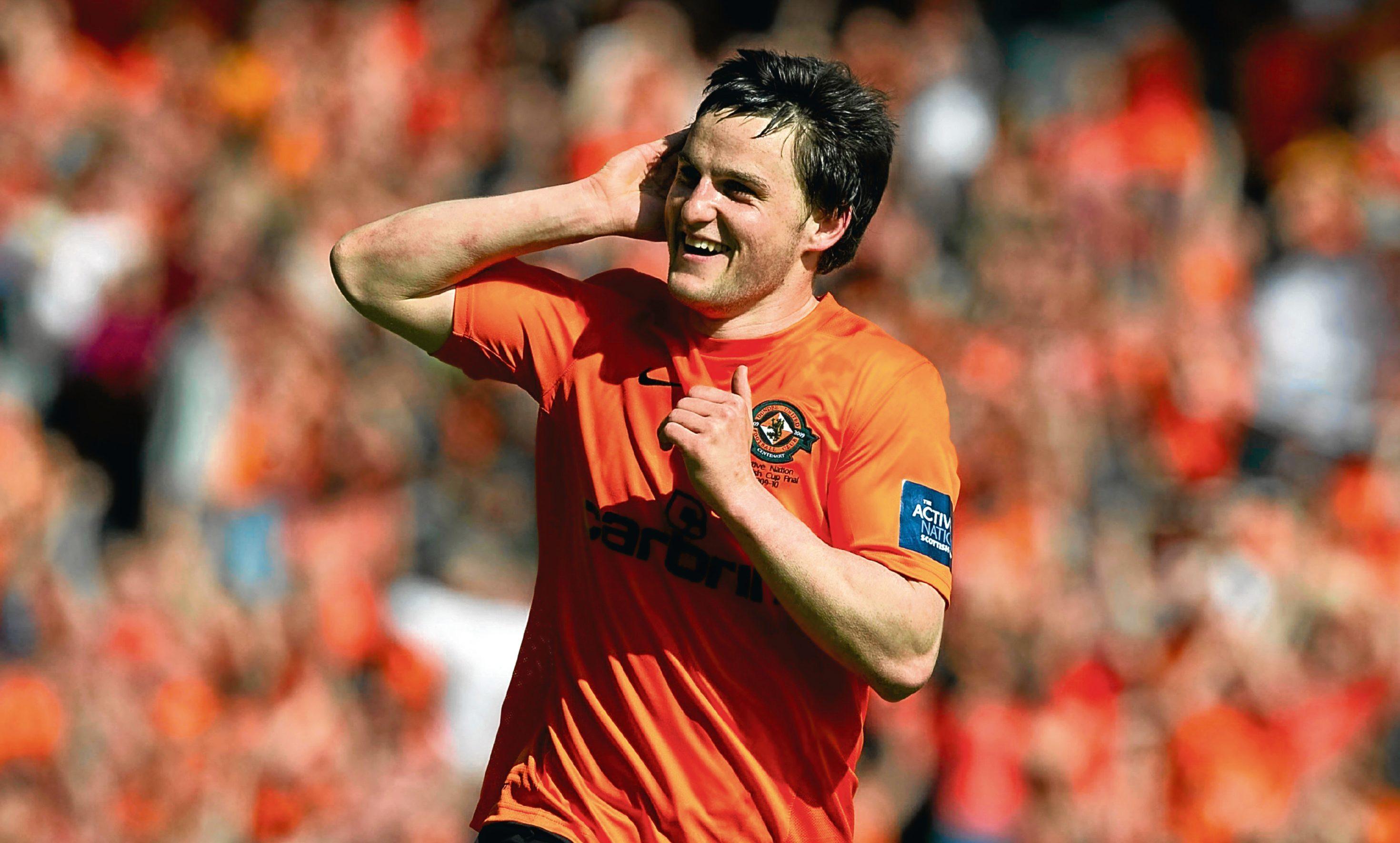 Craig Conway celebrates at Hampden.