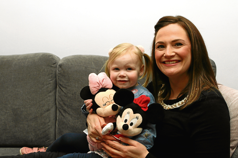 Zoe Doogan, 2, with her mum Elaine at home in Broughty Ferry